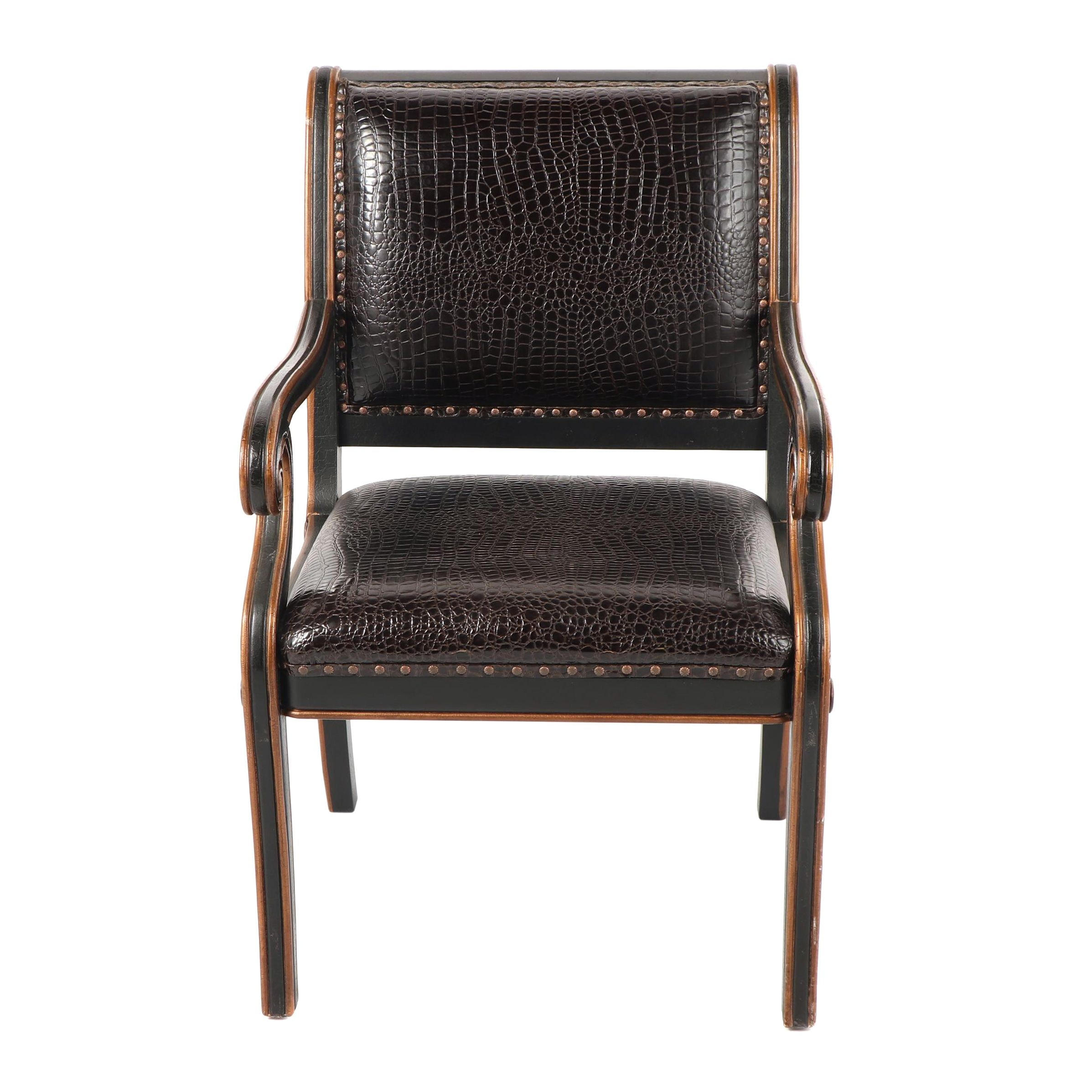 Empire Style Upholstered Armchair by Ultimate Chairs Limited, 21st Century
