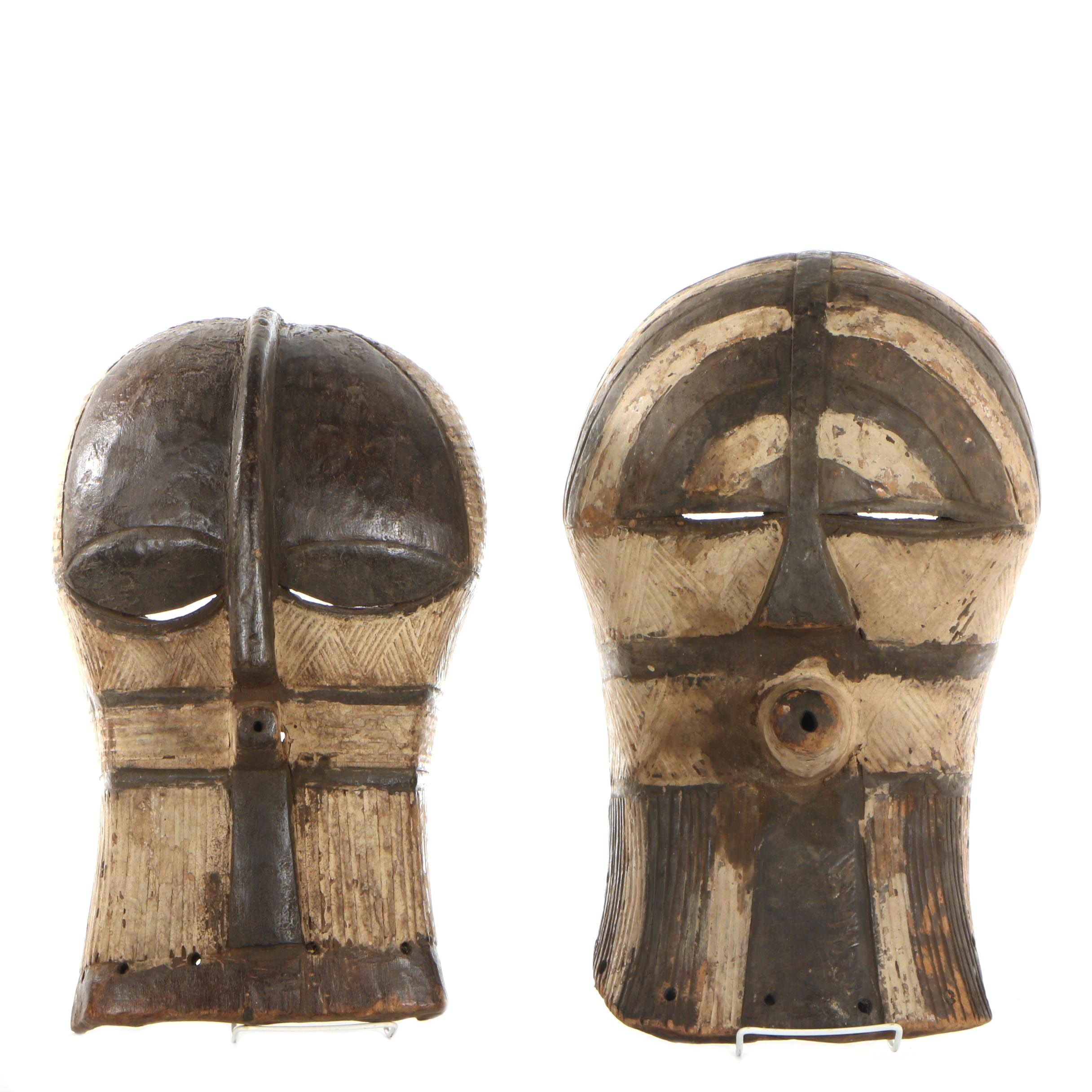 20th Century Wooden Songye Kifwebe Masks