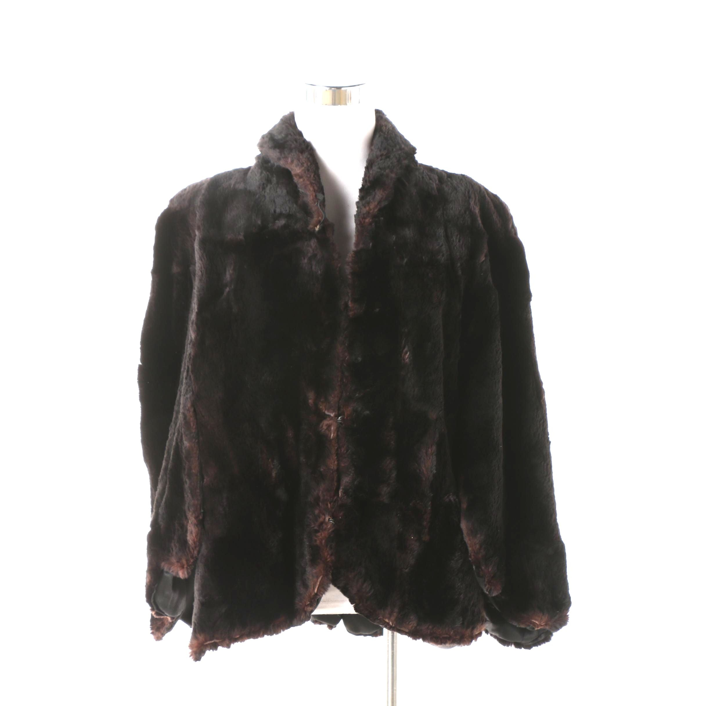 Women's Vintage Jos. S. Bies Sheared and Dyed Beaver Fur Cape
