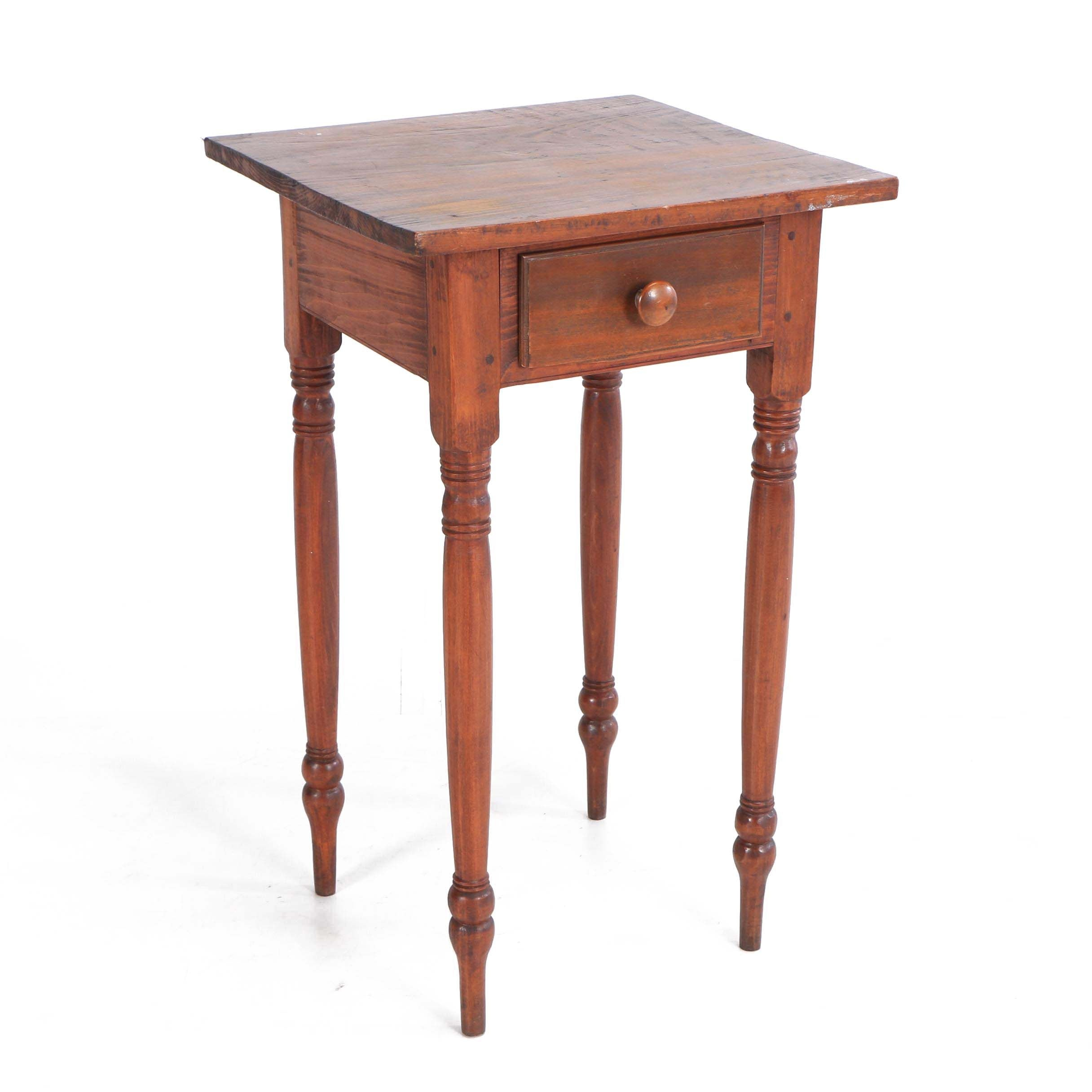 Federal Style Ash and Pine Side Table, 19th Century