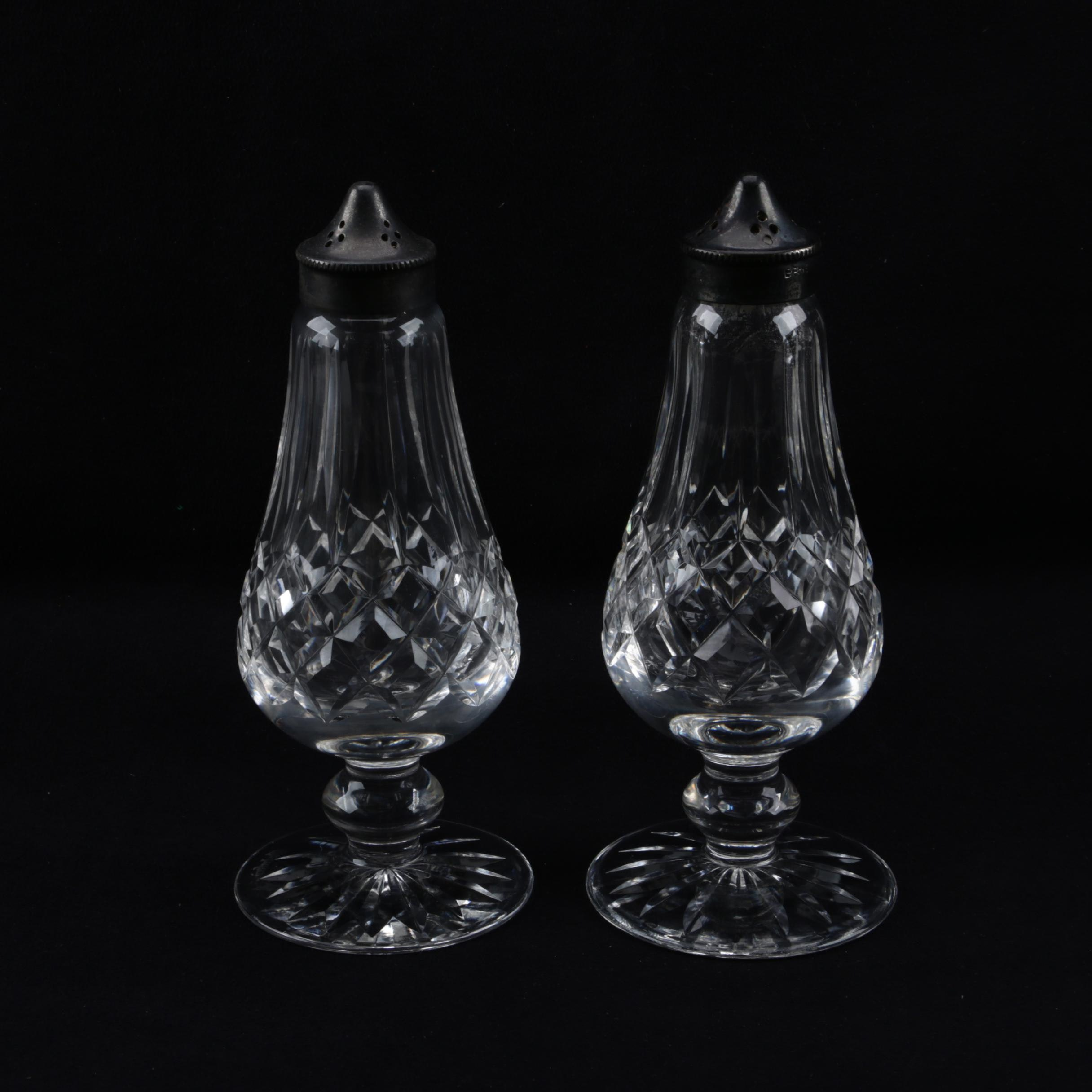 """Waterford Crystal """"Lismore"""" Salt and Pepper Shakers"""