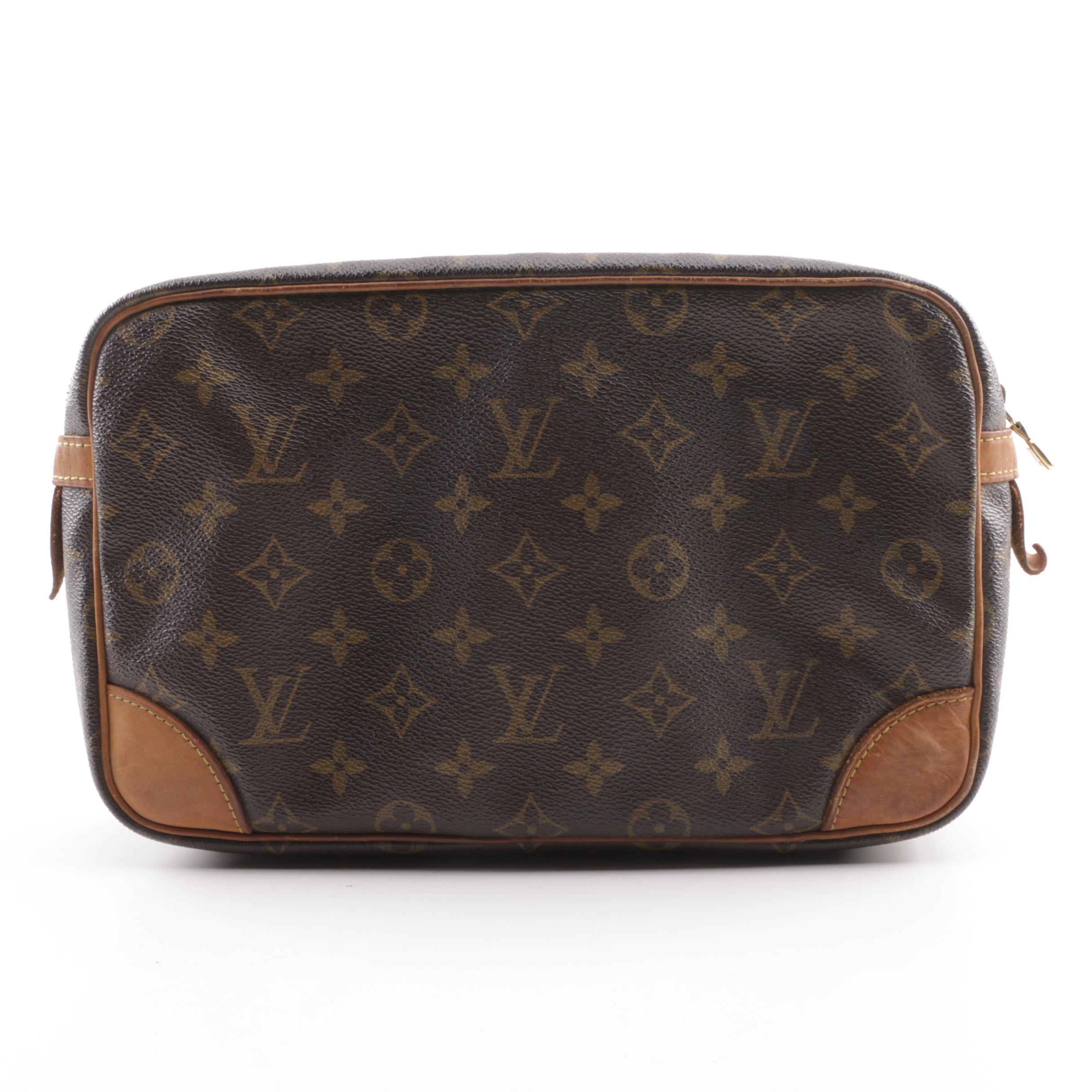 1990 Vintage Louis Vuitton Paris Compiegne Pochette Cosmetic Bag