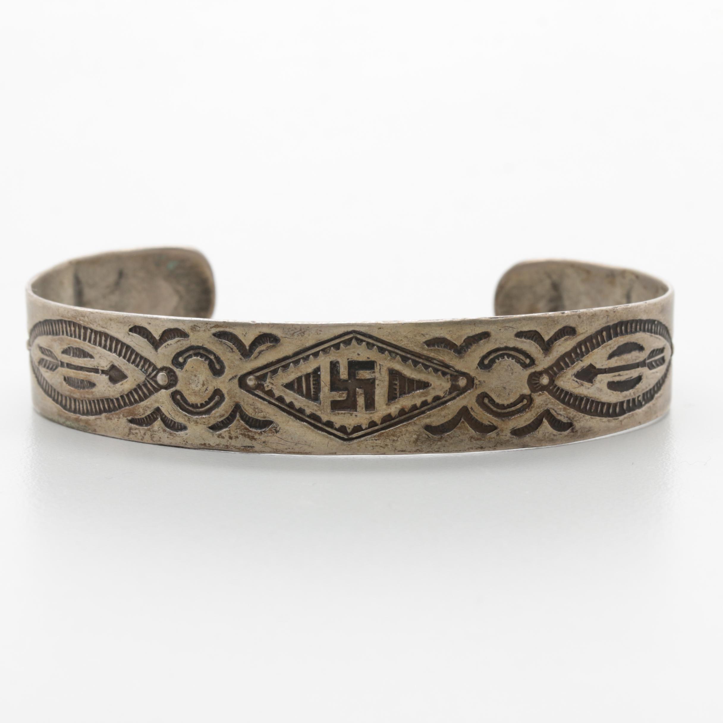 Southwestern Style 800 Silver Cuff Bracelet