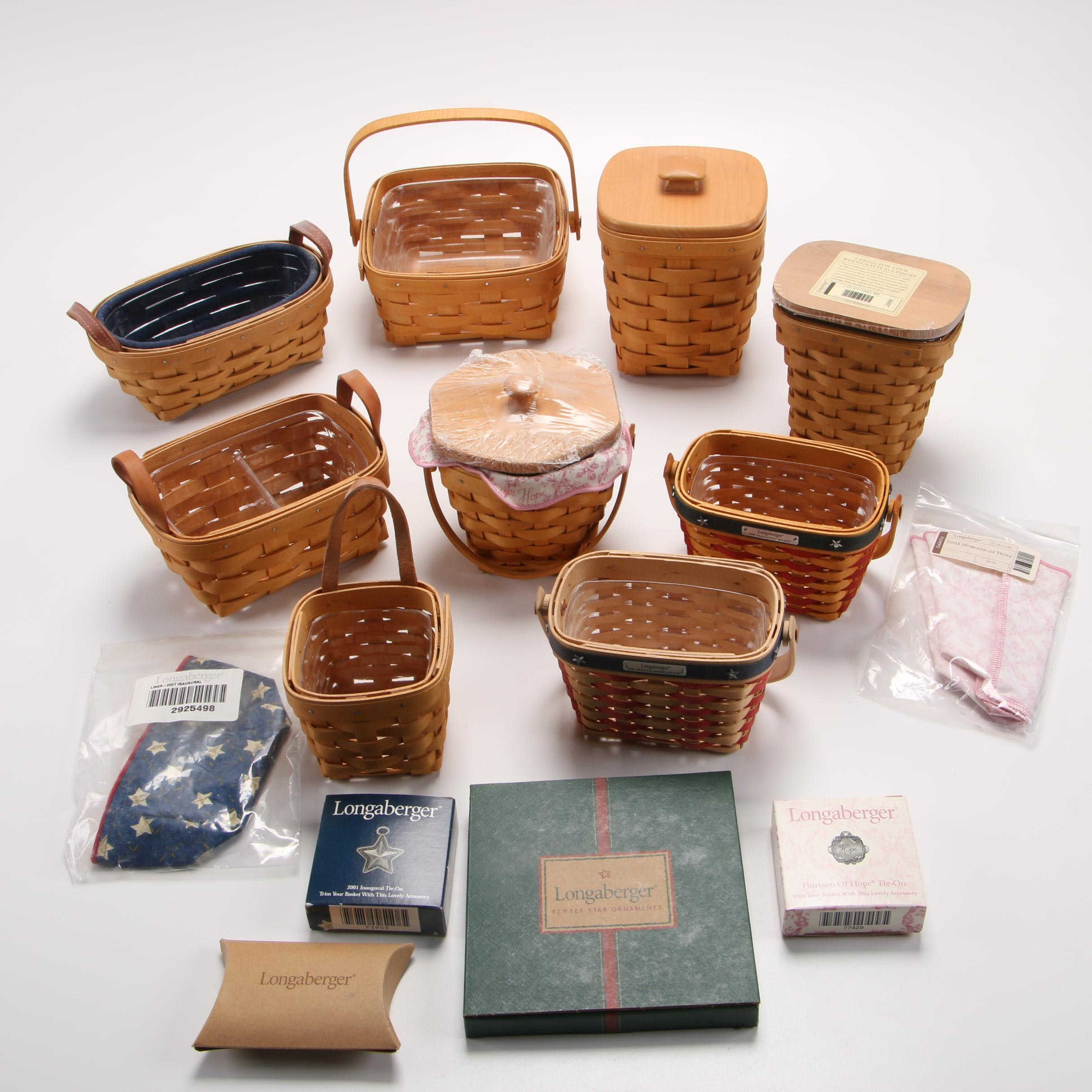 Longaberger Baskets and Accessories