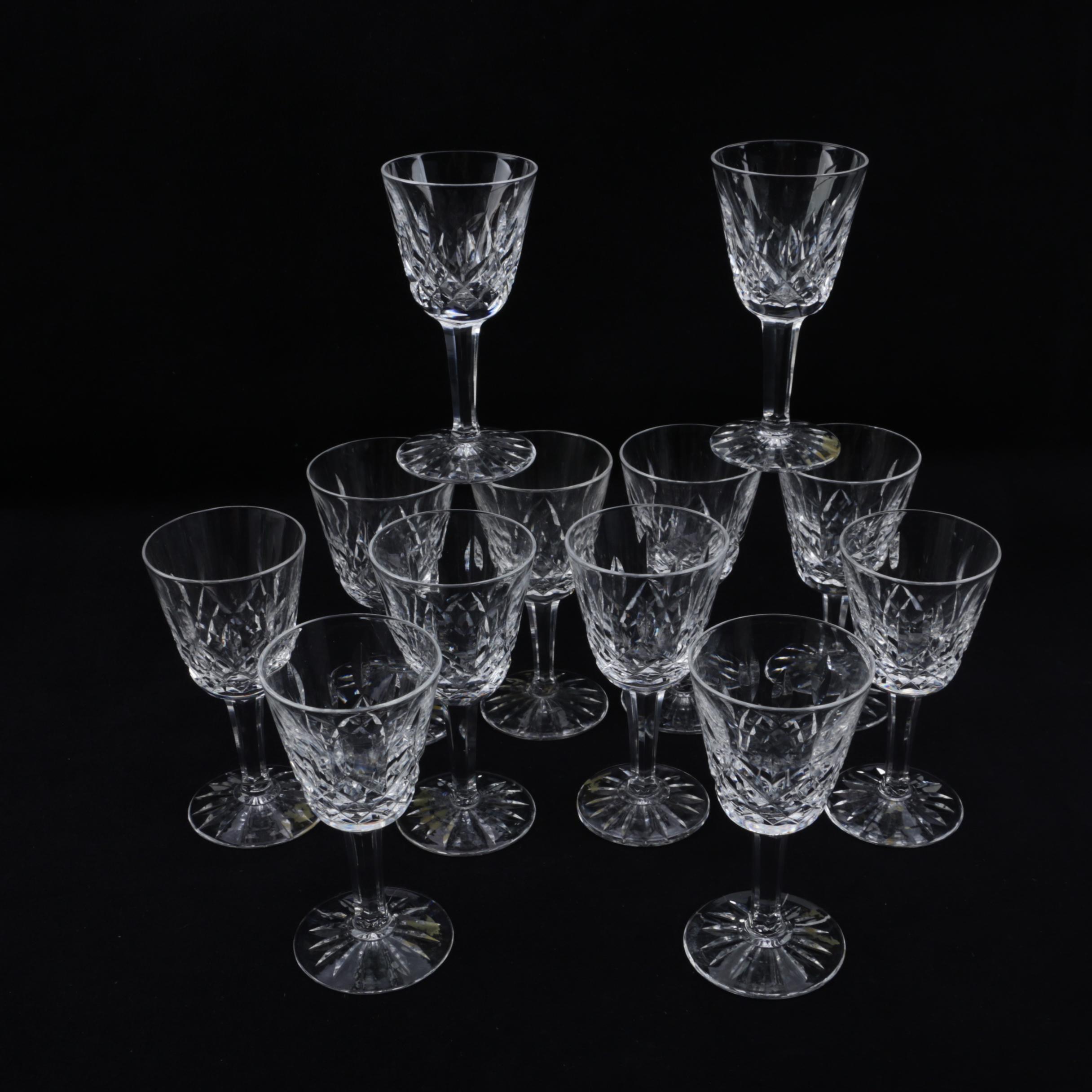 "Waterford Crystal ""Lismore"" Cordial Glasses"