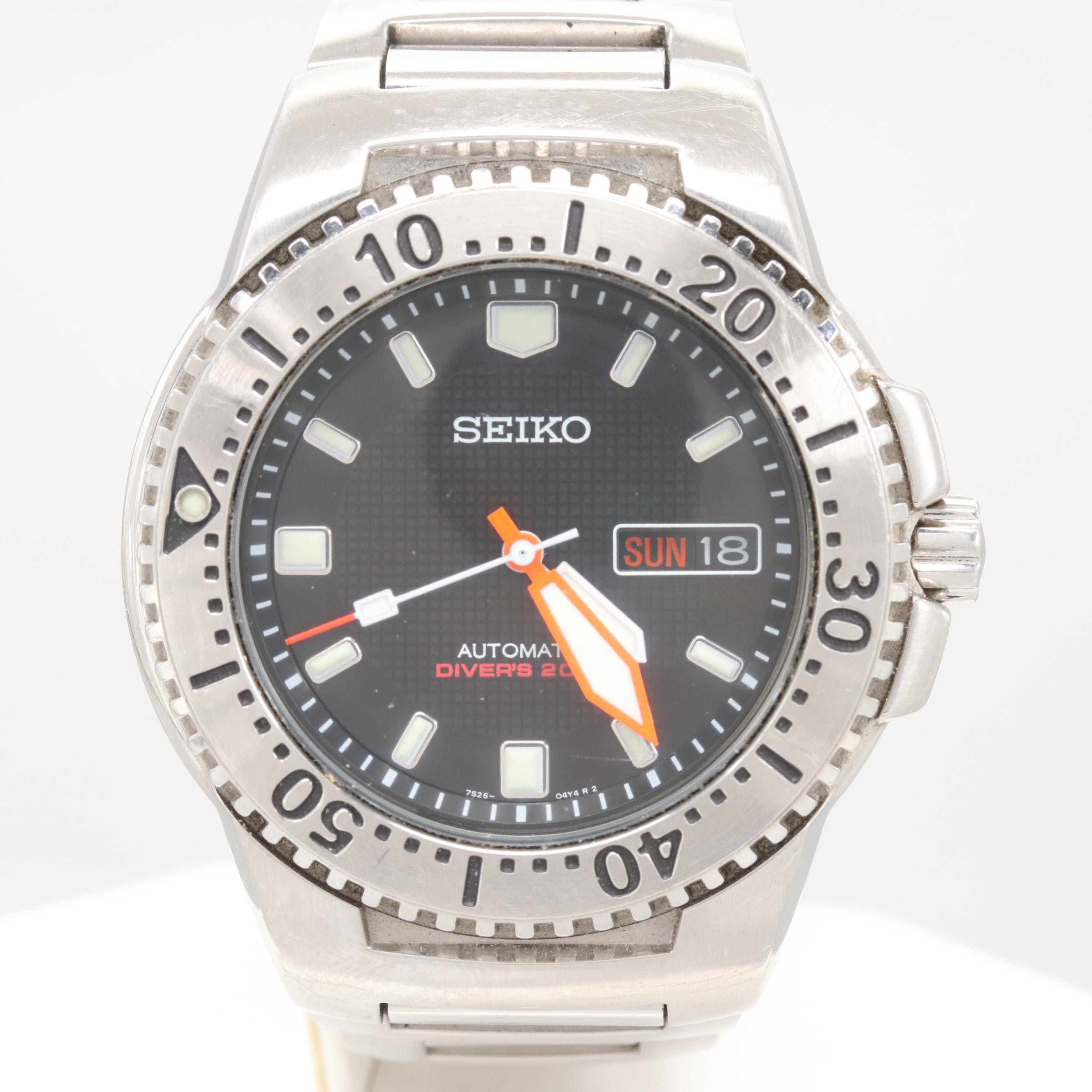 Seiko Stainless Steel Scuba Diver's 200M Automatic Wristwatch