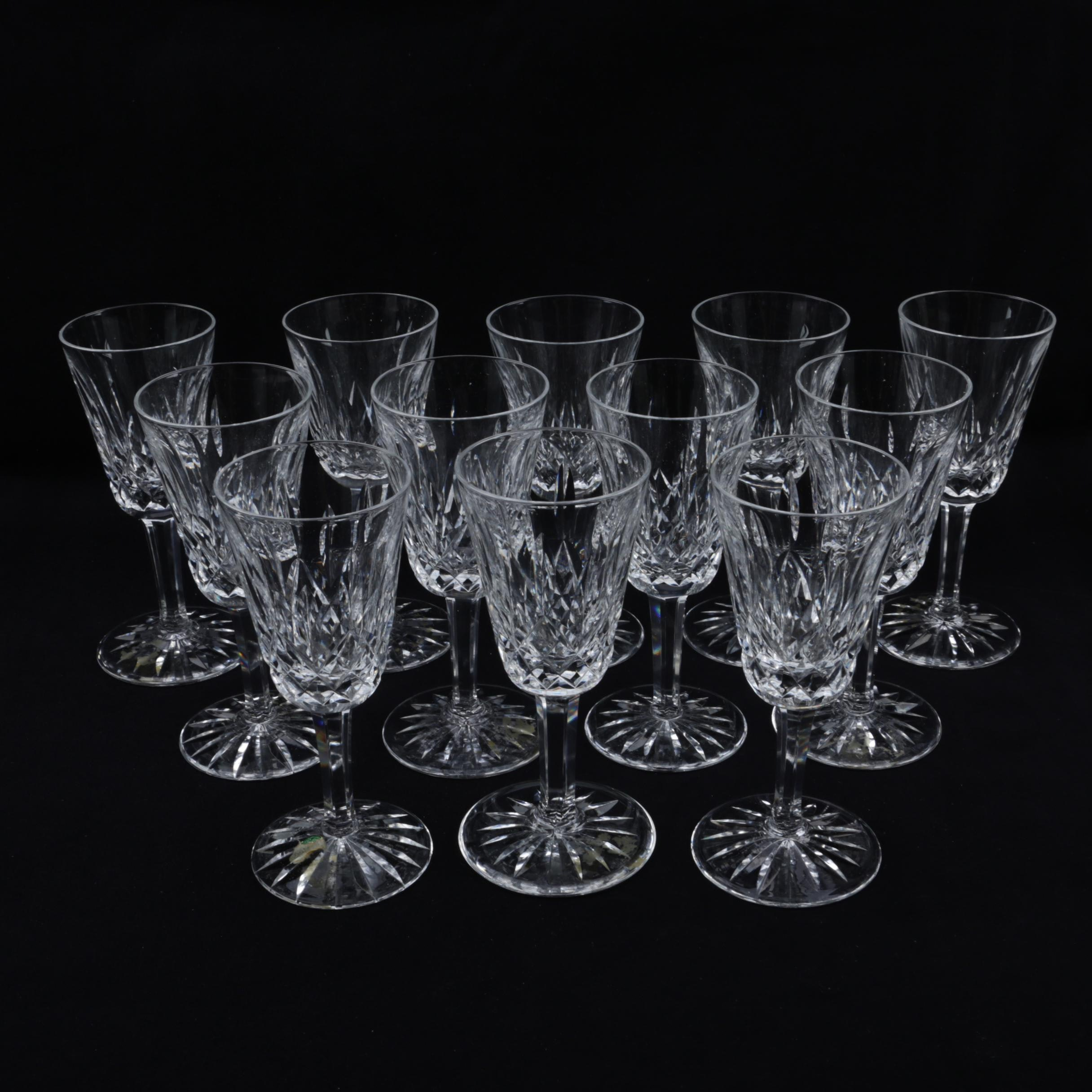 """Waterford Crystal """"Lismore"""" Sherry Glasses"""