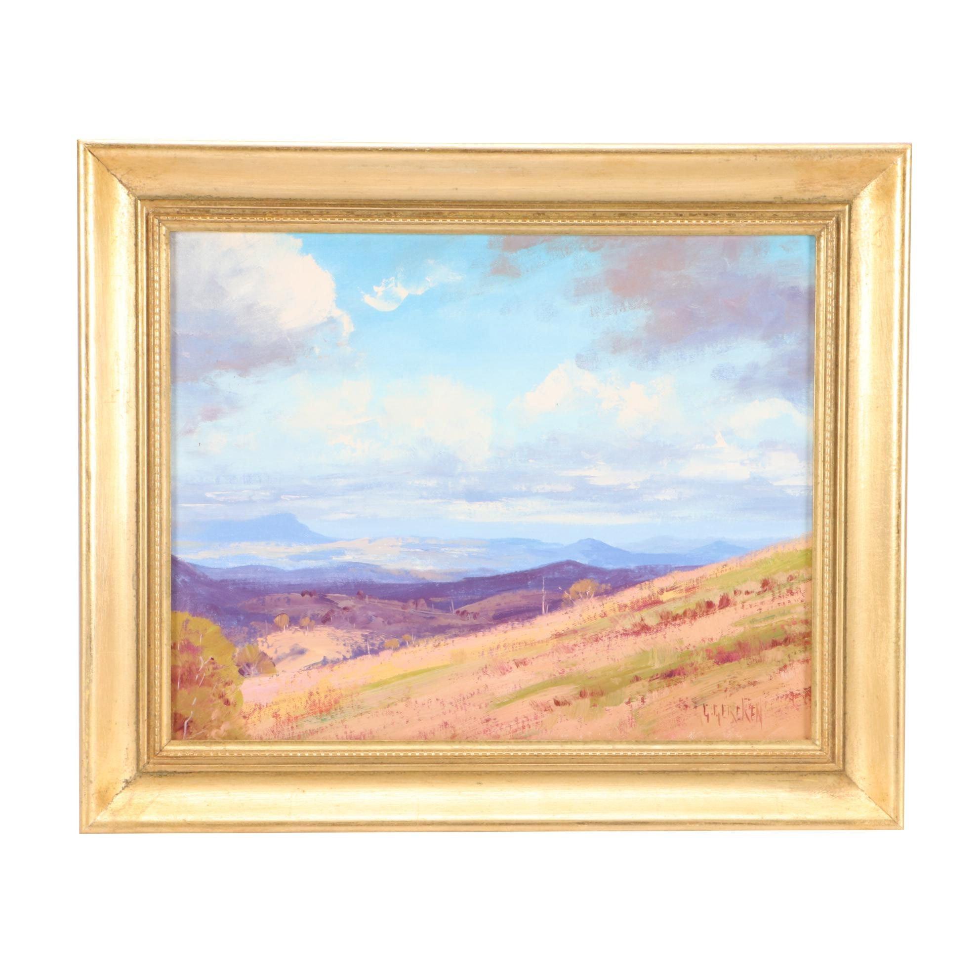 Graham Gercken Oil Landscape Painting