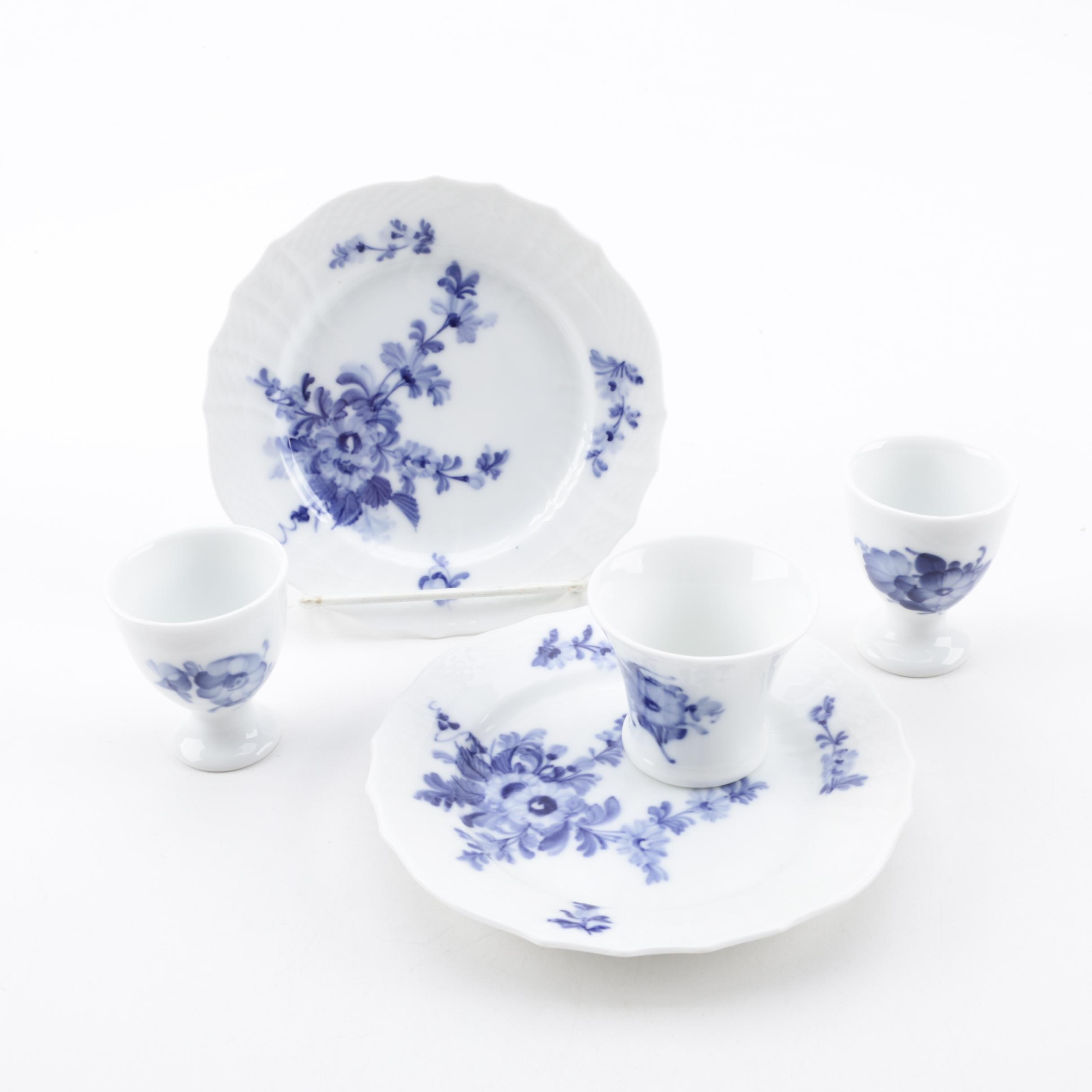 "Royal Copenhagen ""Blue Flowers"" Porcelain Dinnerware"