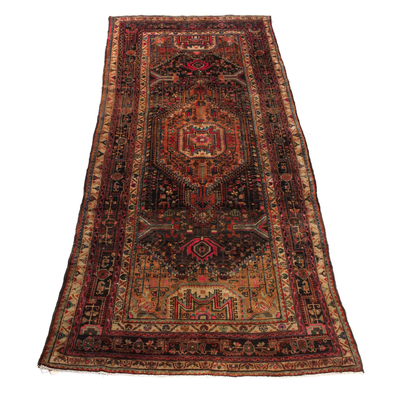 Vintage Hand-Knotted Persian Bijar Area Rug