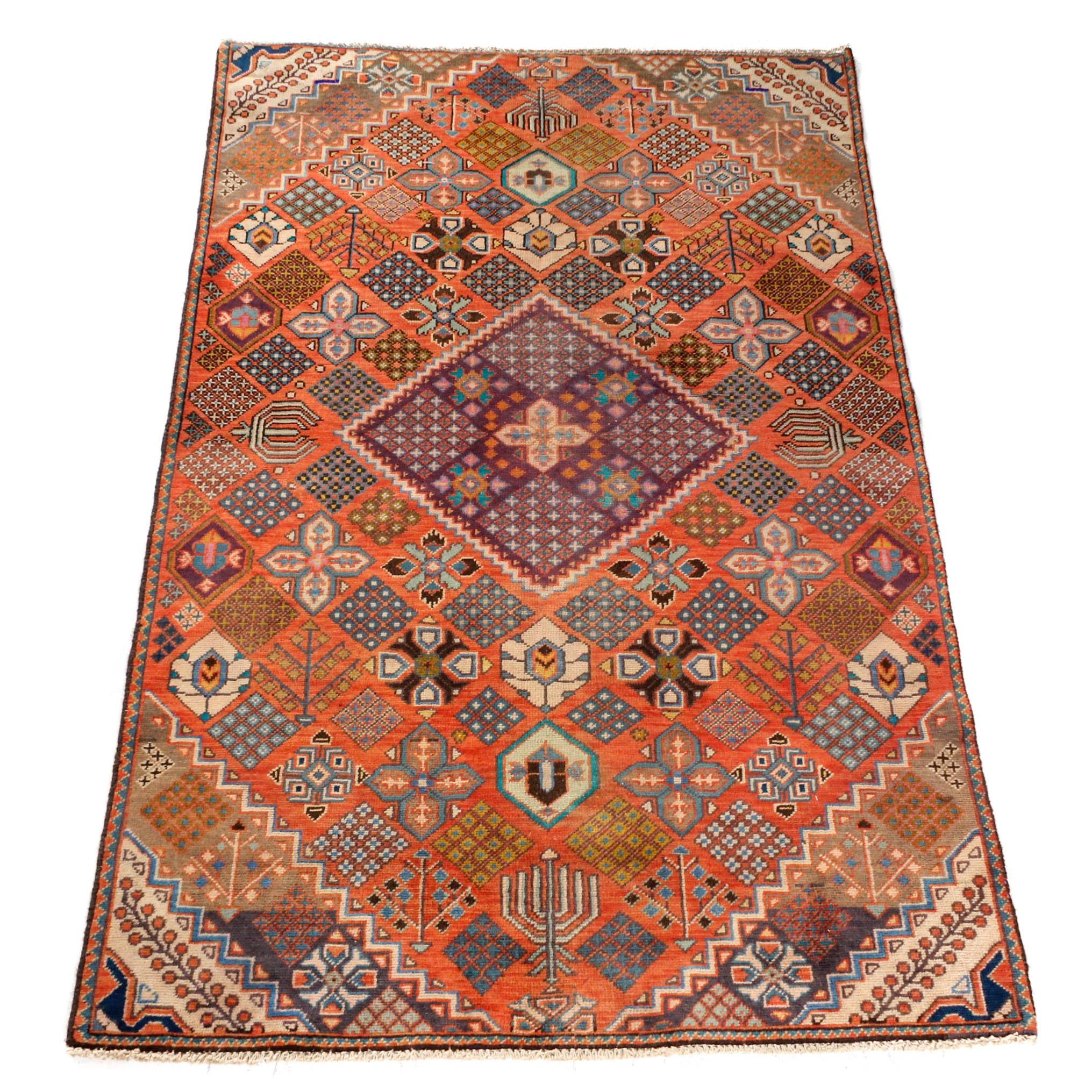 Vintage Hand-Knotted Persian Josheghan Rug