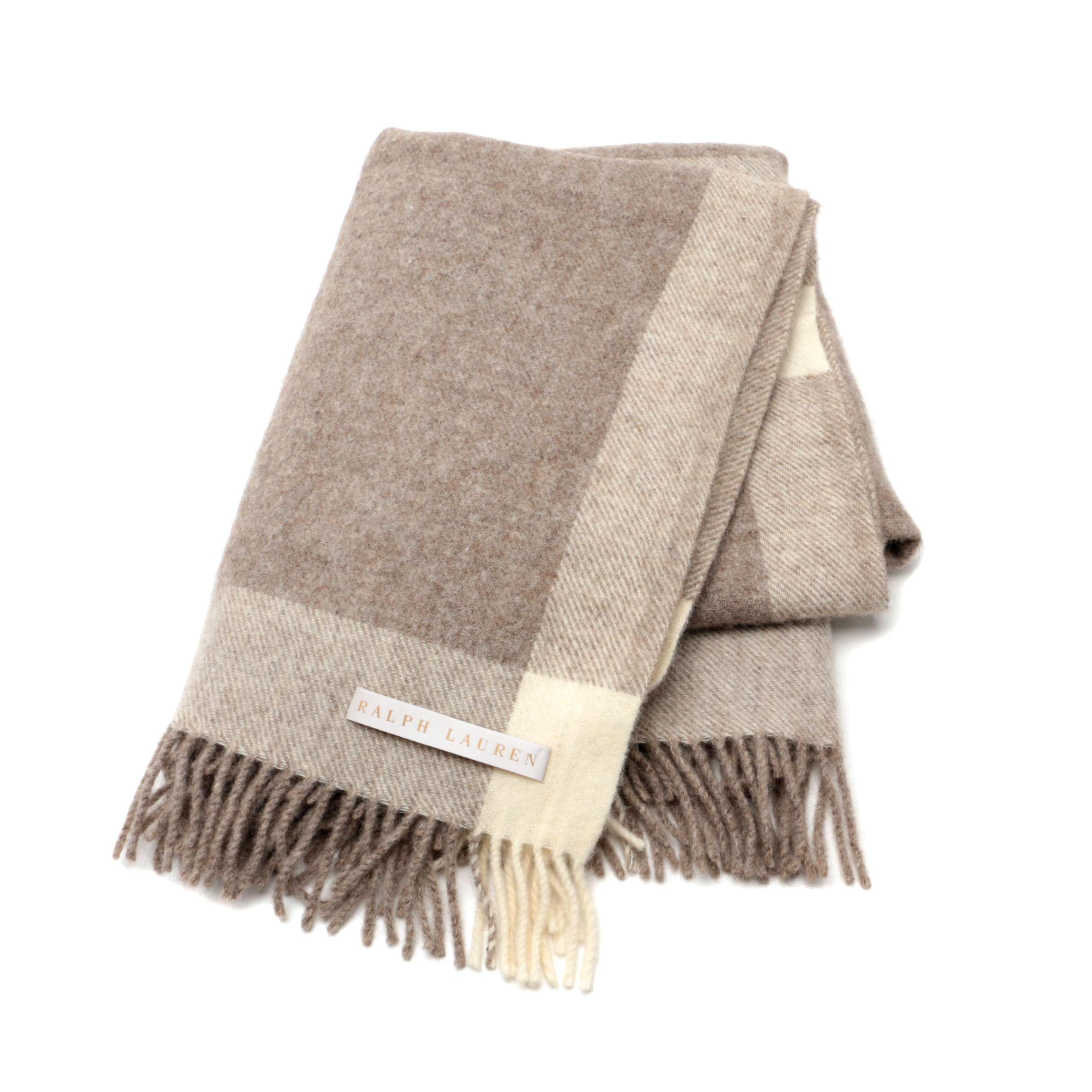 """Ralph Lauren """"Home Collection"""" Wool Throw Blanket"""