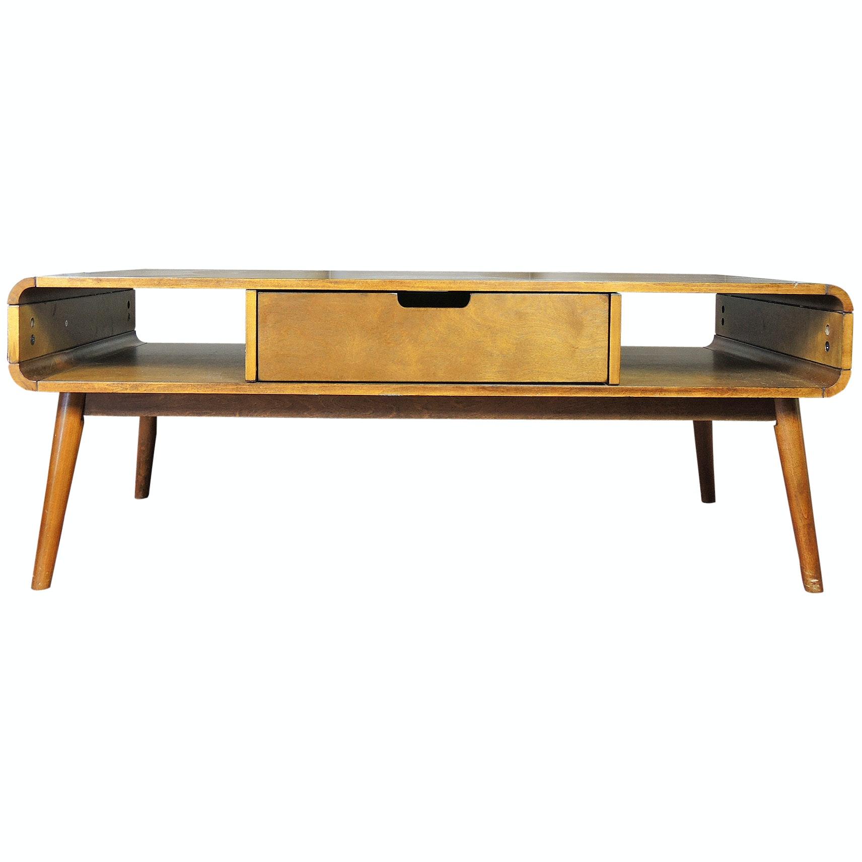 Mid Century Modern Style Coffee Table, 21st Century