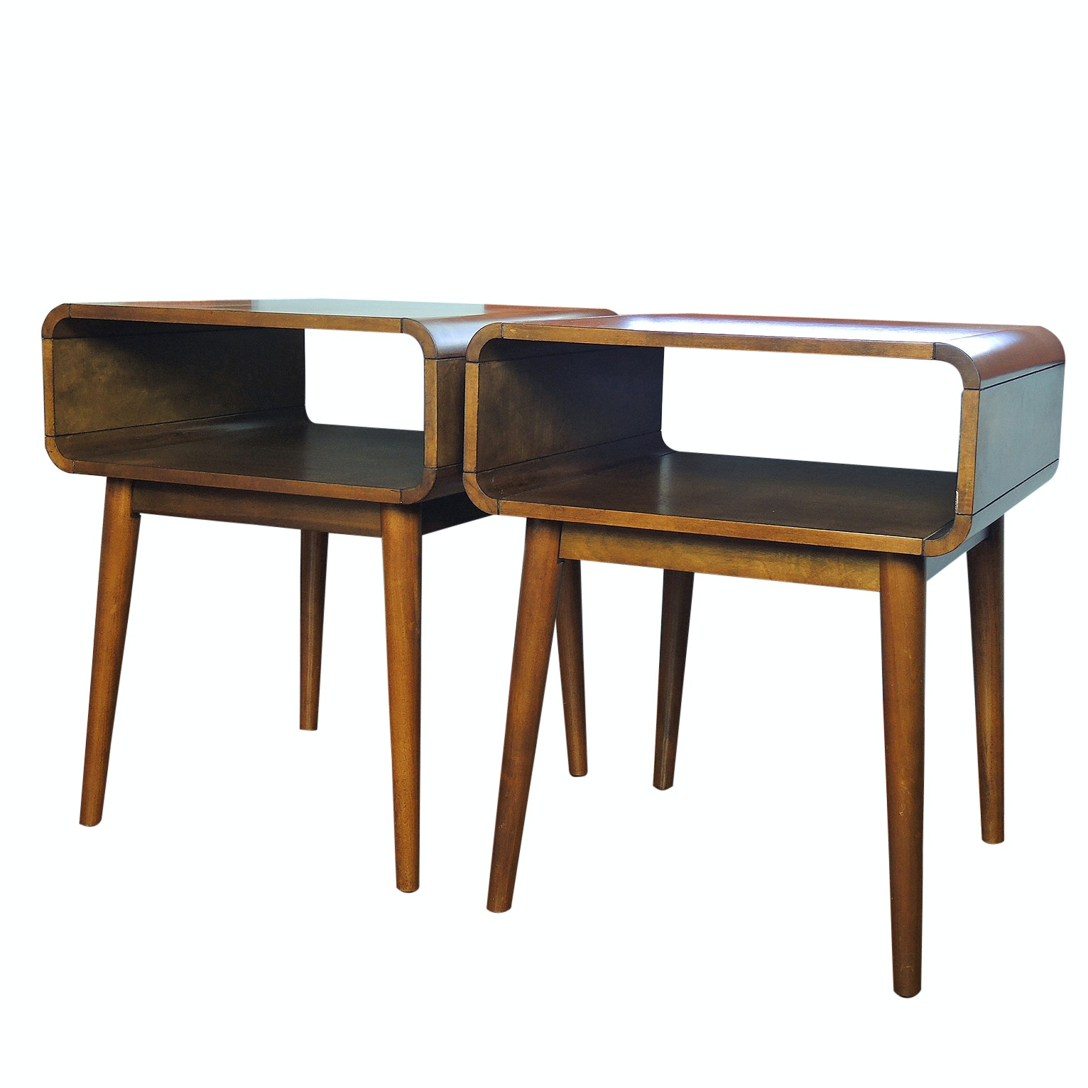 Mid Century Modern Style End Tables, 21st Century