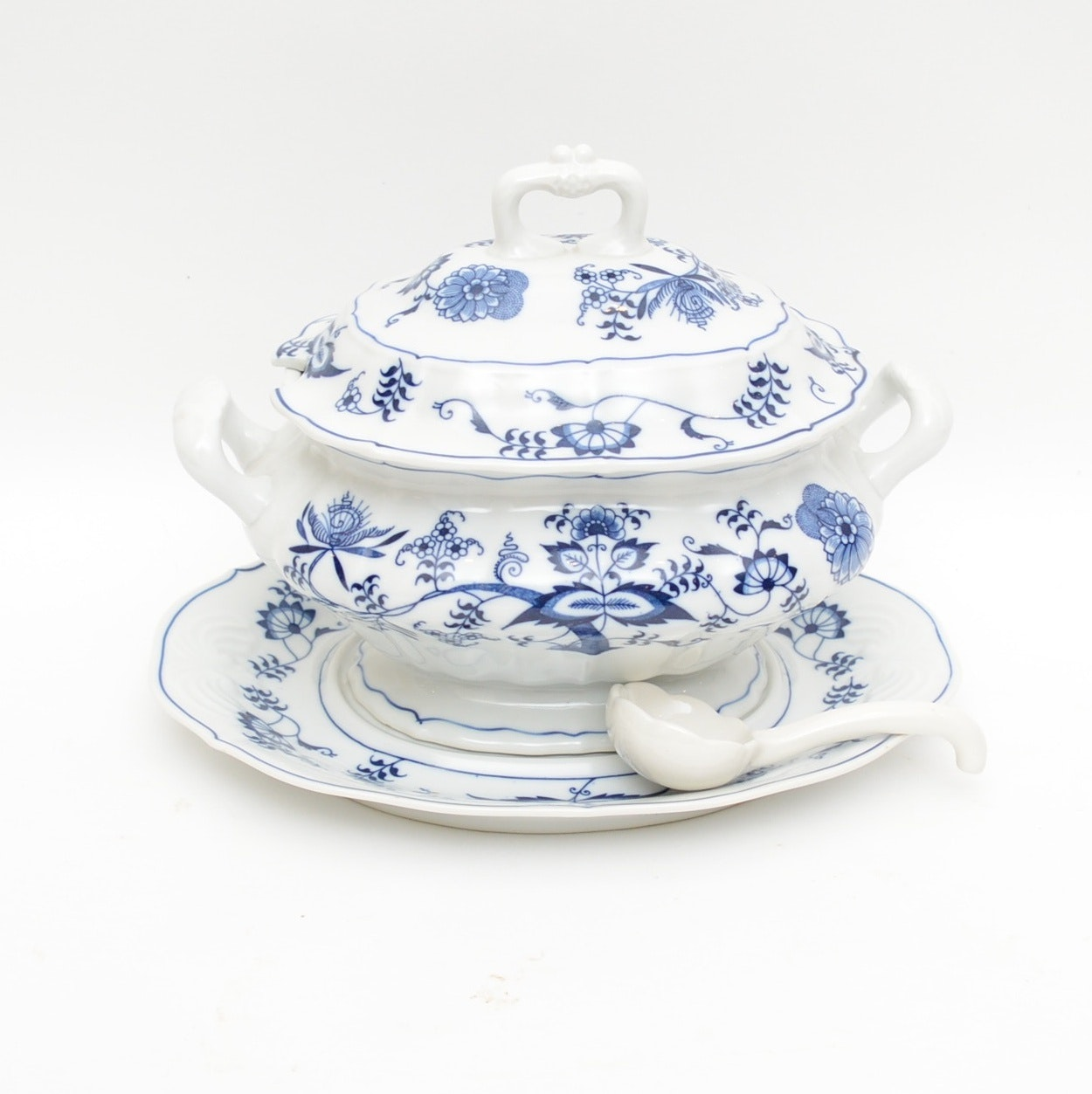 "Blue Danube ""Blue Danube"" Porcelain Soup Tureen"