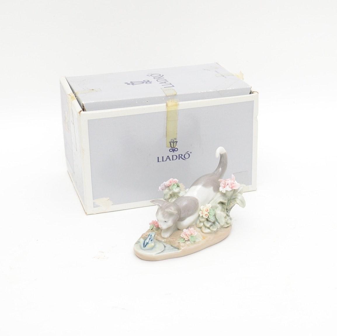 "1983 Lladró ""Kitty Confrontation"" Porcelain Figurine"