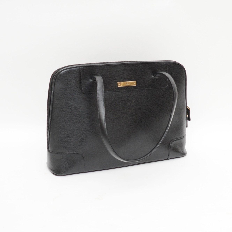 Gucci Black Textured Leather Shoulder Bag