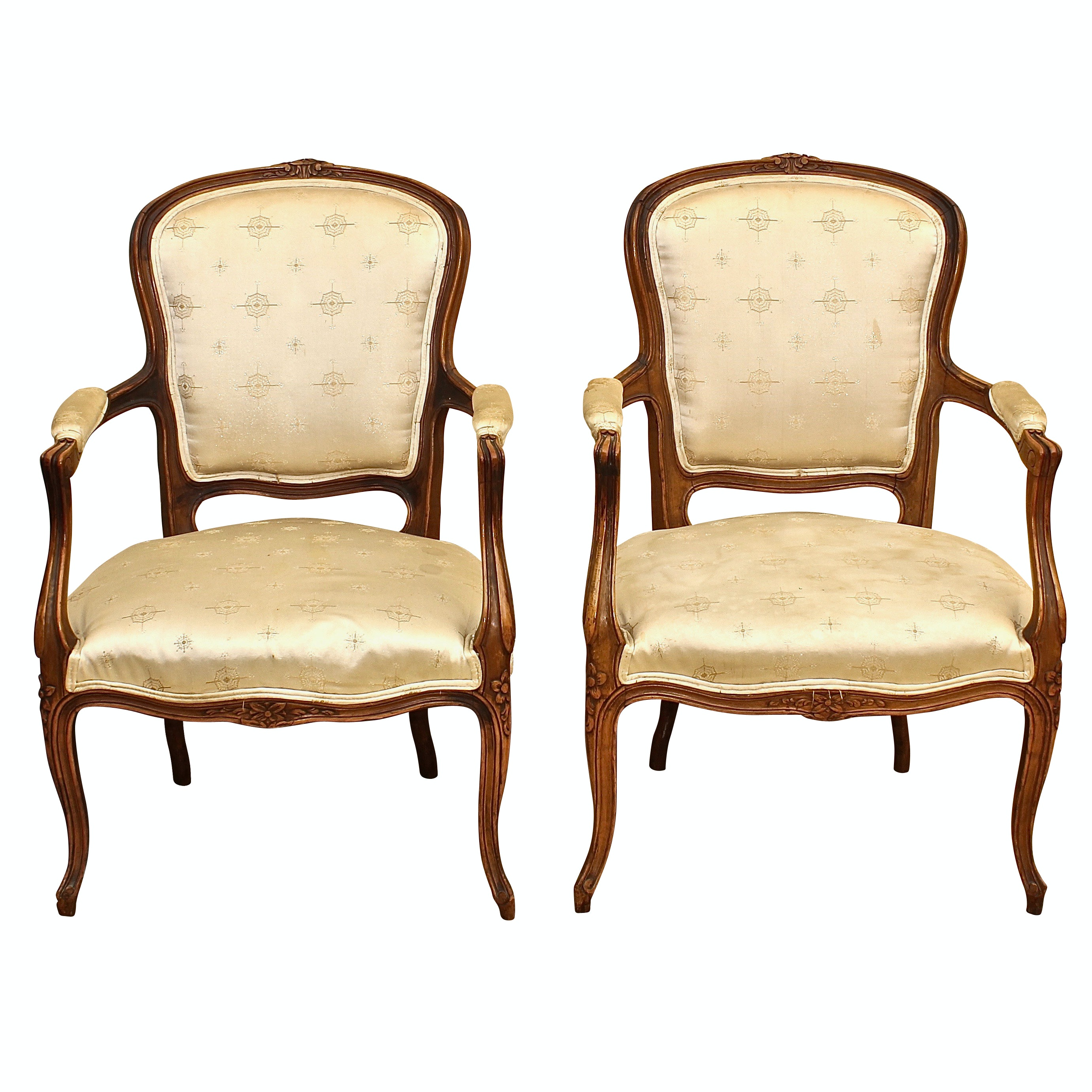 French Provincial Style Fauteuils, Late 20th Century