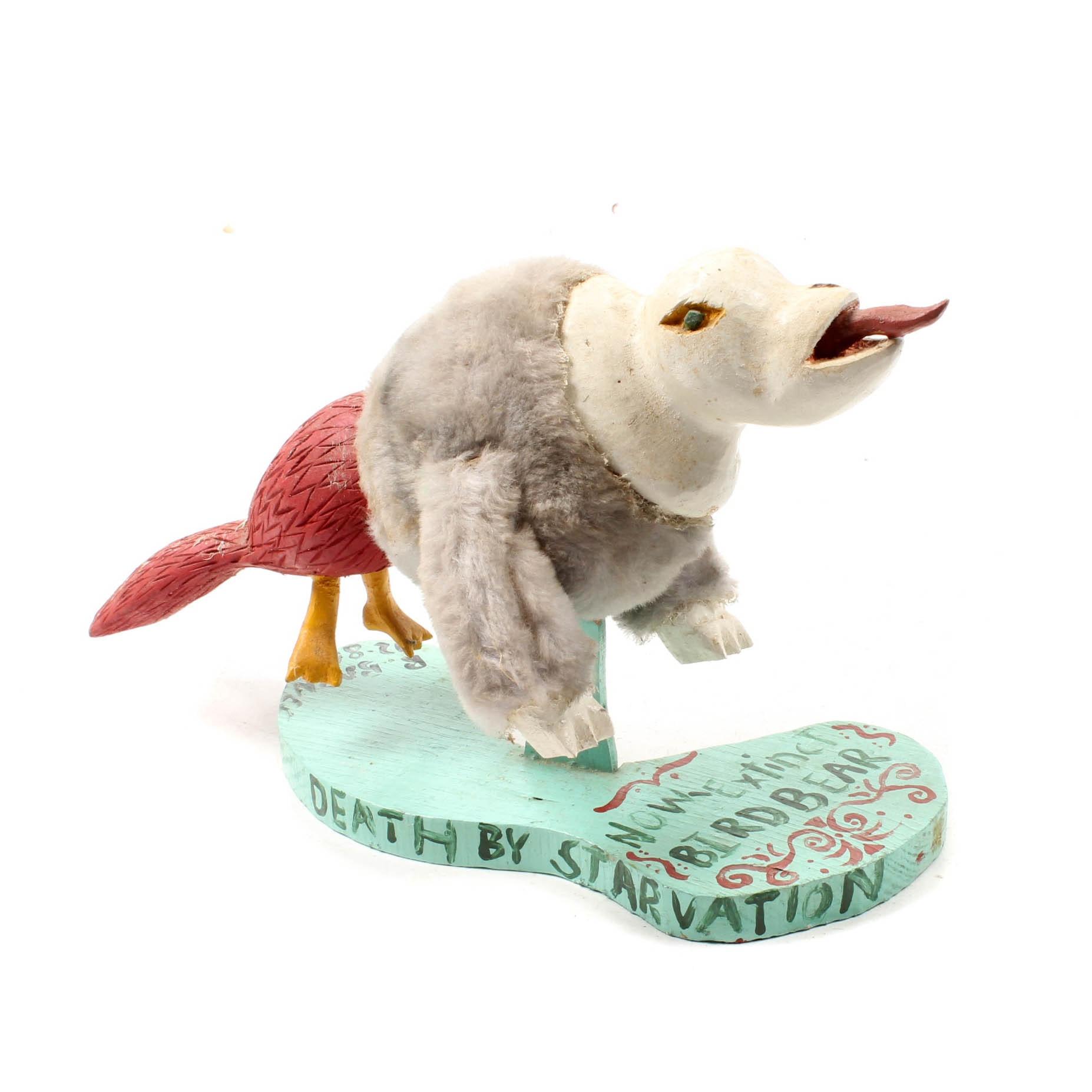 """Ricky Barnes Sculpture """"Now-Extinct Bird Bear"""""""