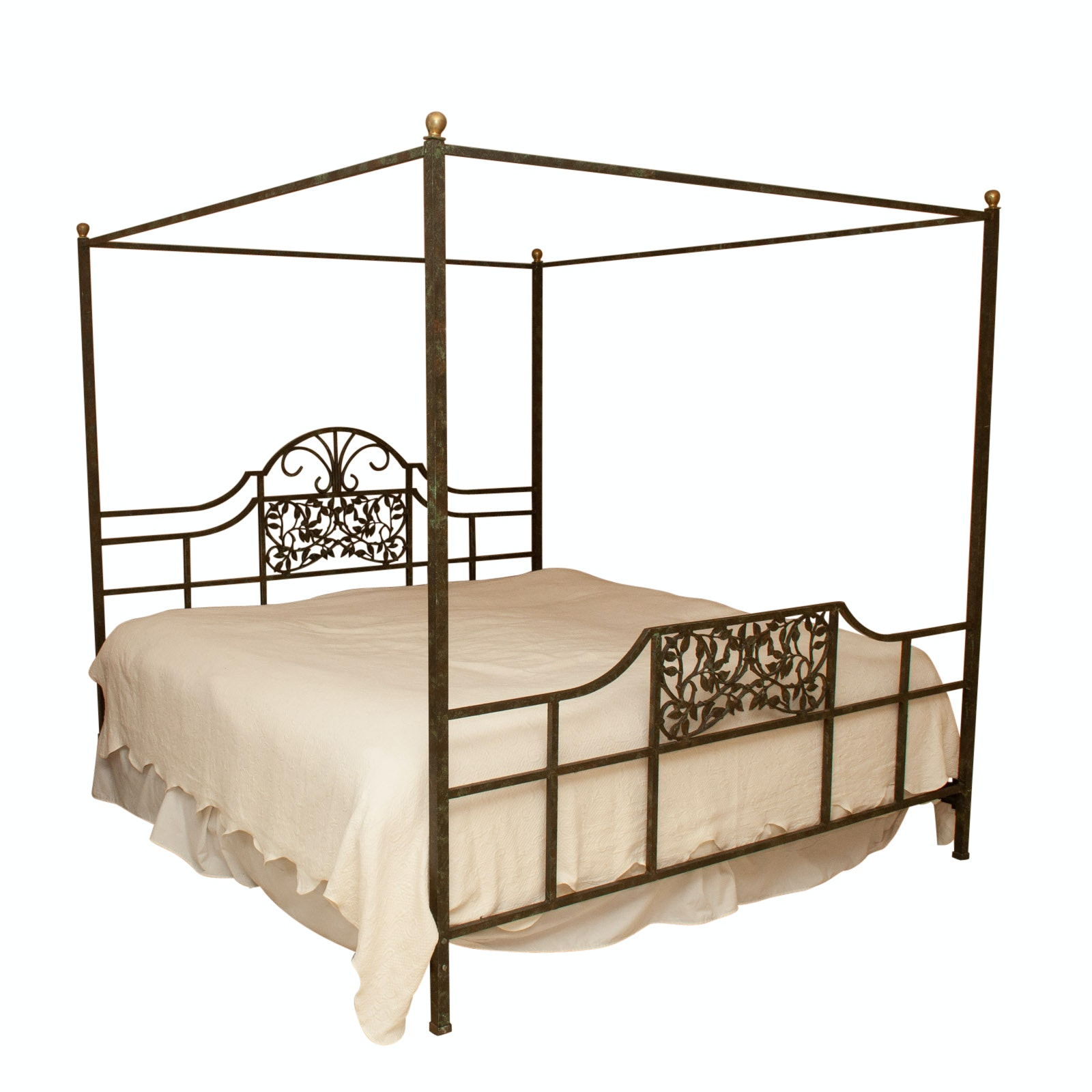 Contemporary Iron Four Poster Bed Frame