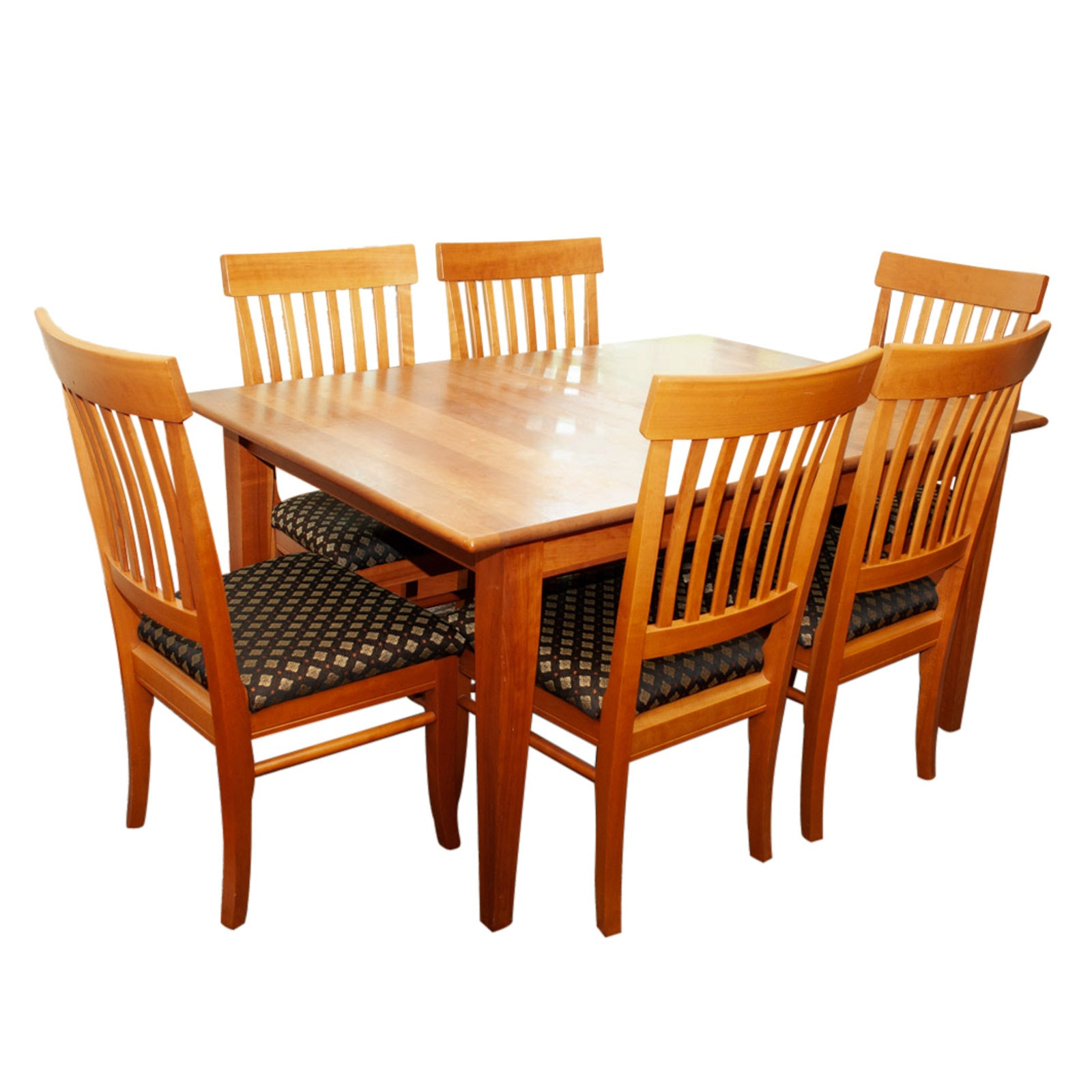 Mission Style Cherry Table with Arhaus Chairs, Late 20th Century