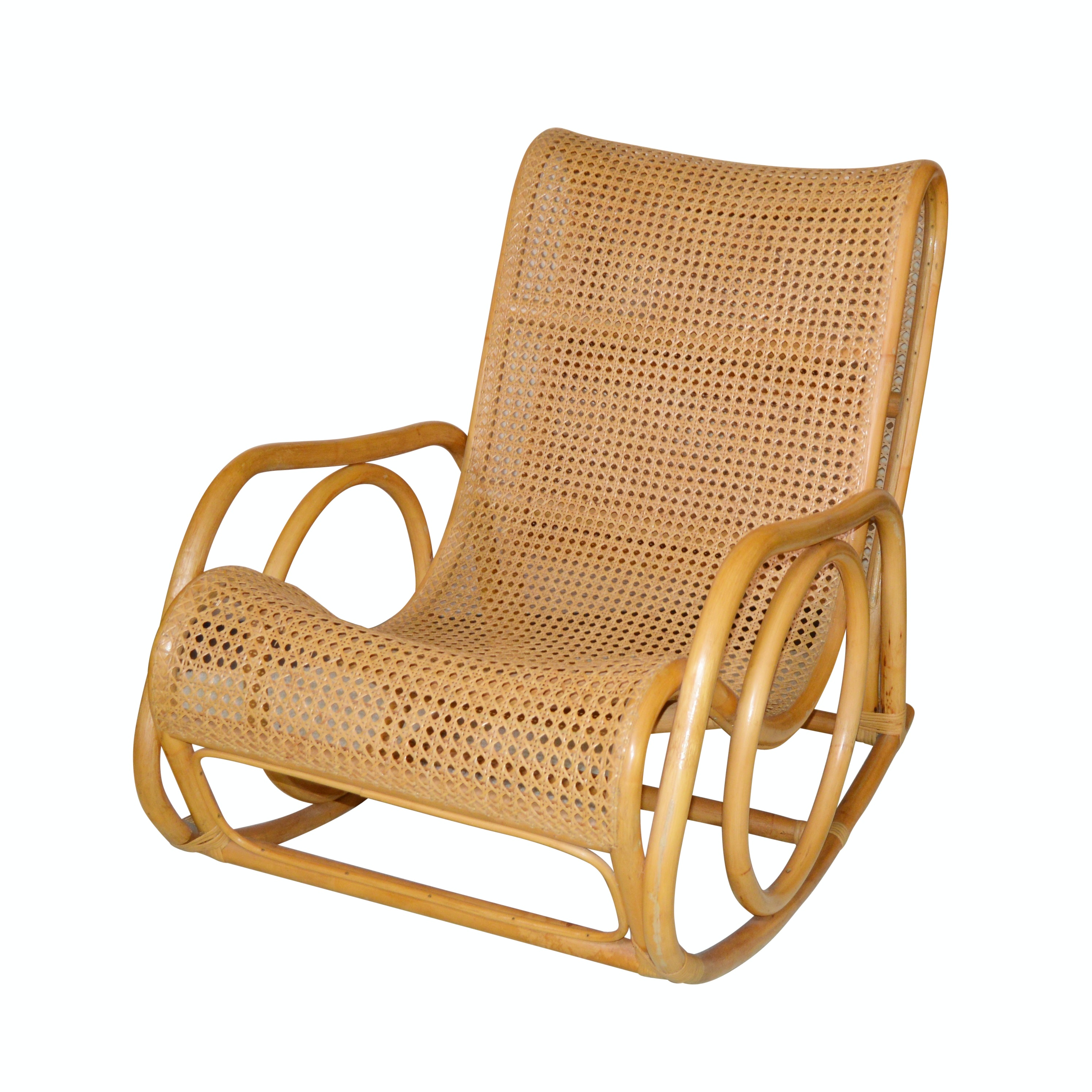 Bauhaus Style Bentwood Rocking Chair, 20th Century