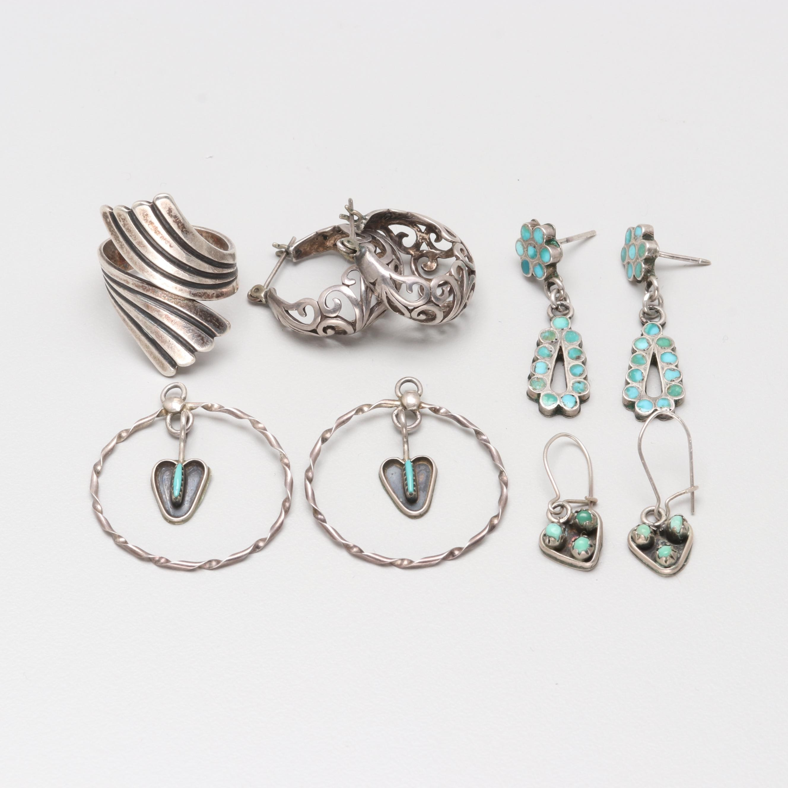 Sterling Silver Turquoise Jewelry Assortment