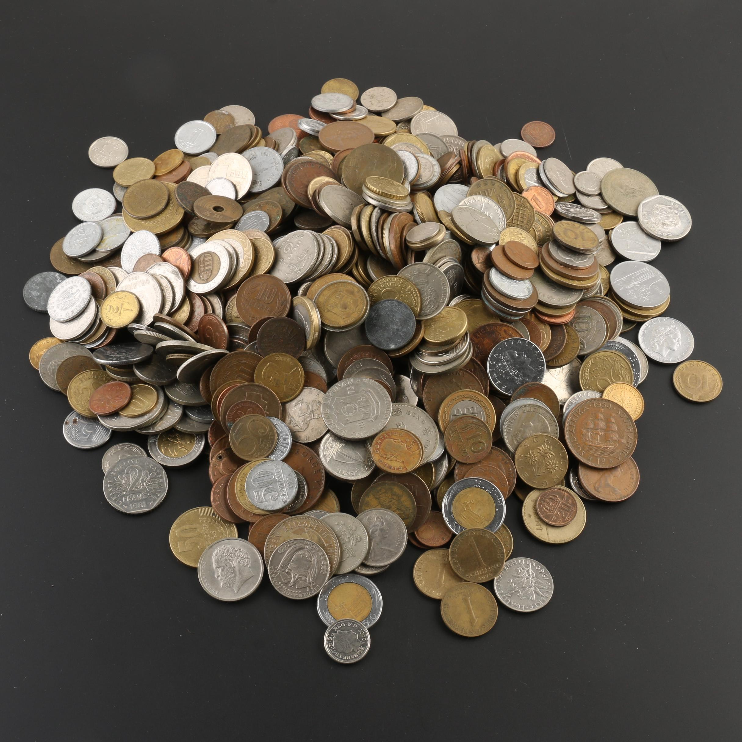 Group of 936 Foreign Coins