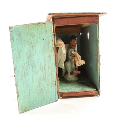 Elijah Pierce 1975 Folk Art Sculpture Outhouse