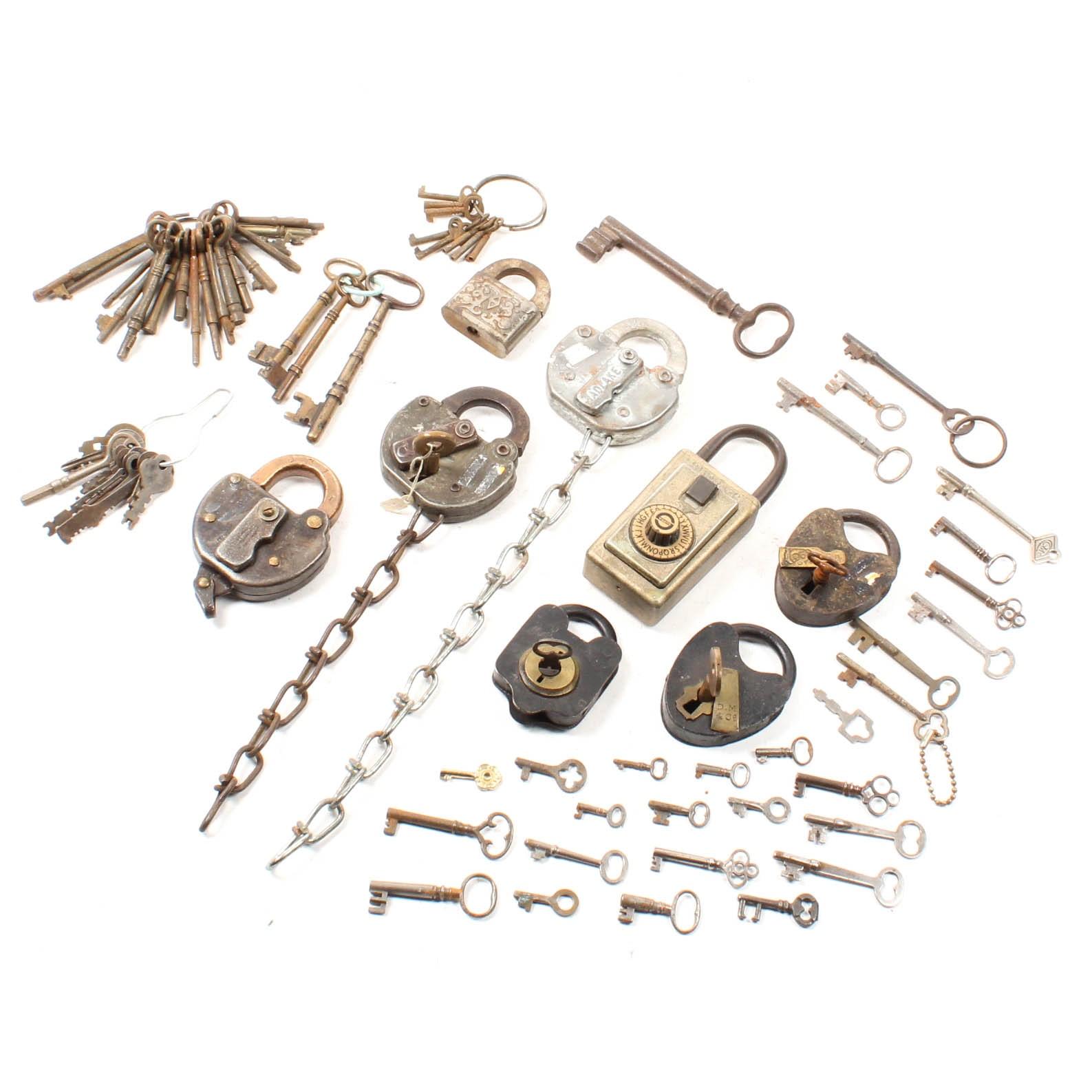 Antique and Vintage Padlocks and Keys