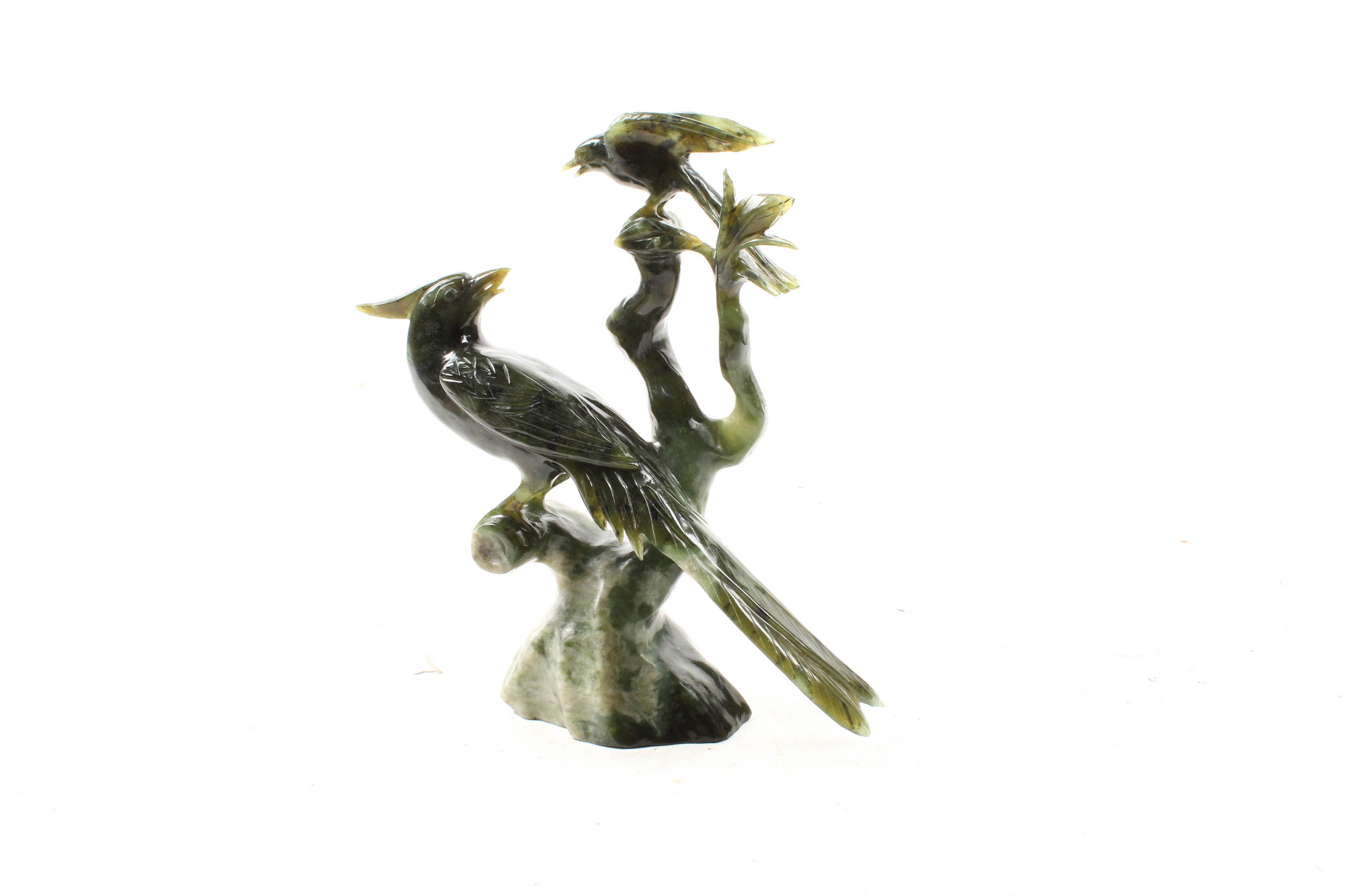 East Asian Carved Nephrite Avian Sculpture