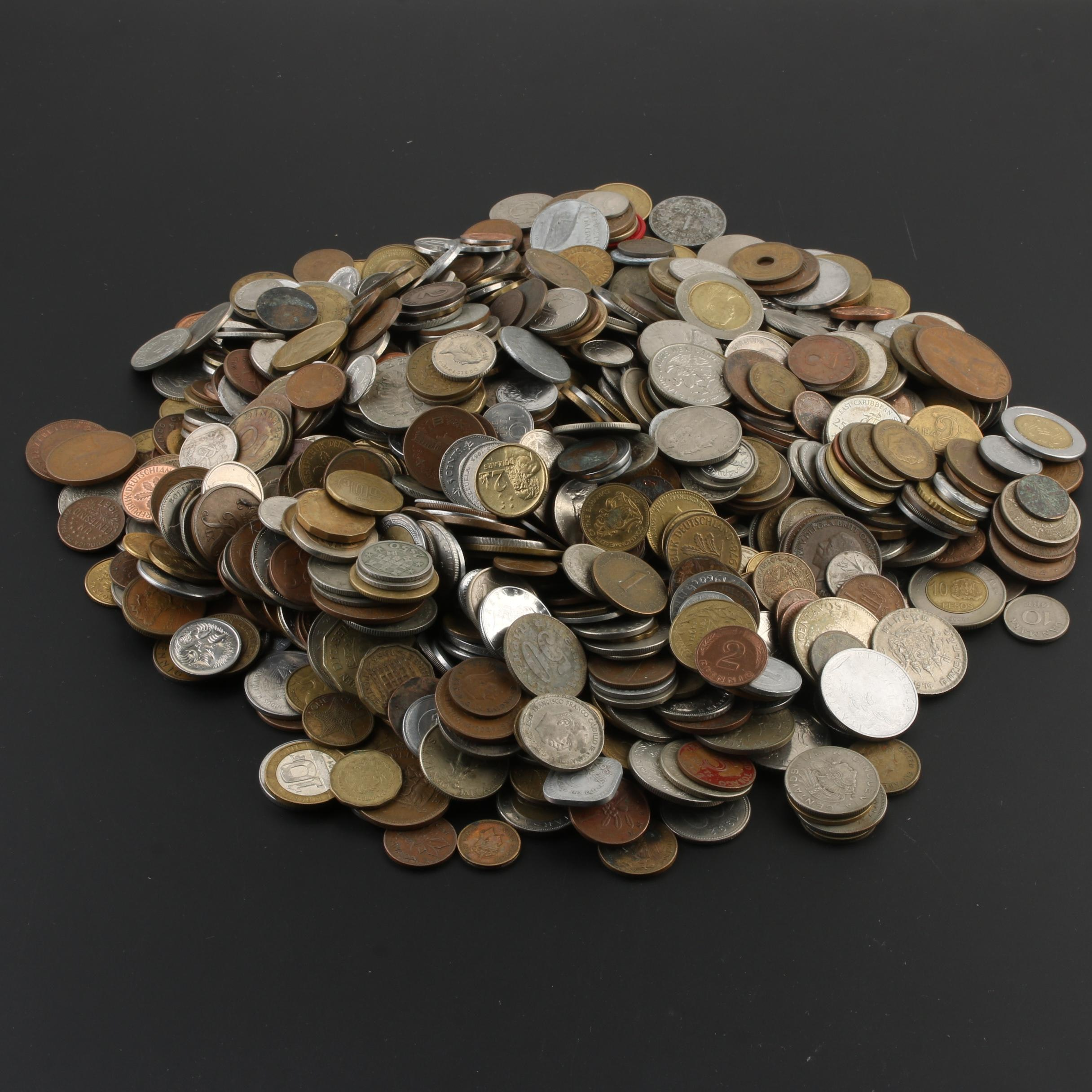 Group of 940 Foreign Coins