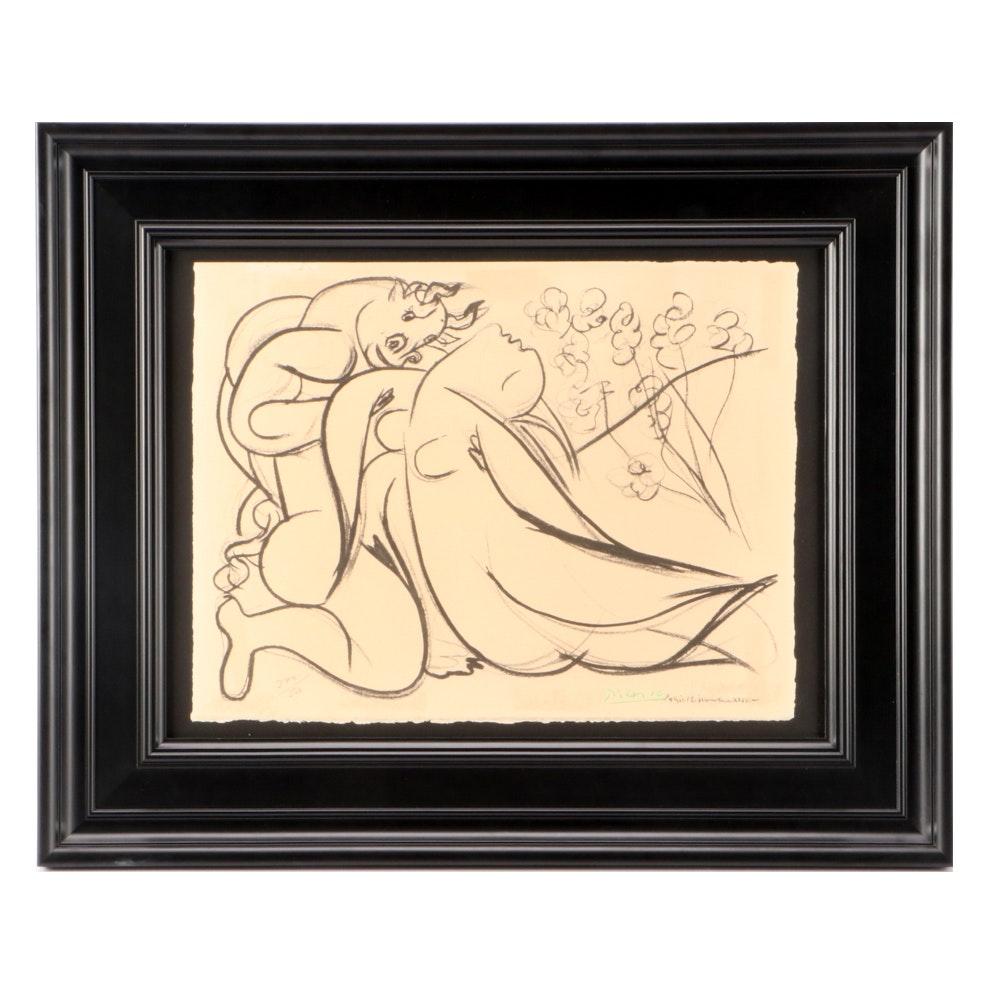"""Limited Edition Pochoir after Pablo Picasso """"Minotaure et Nue"""""""