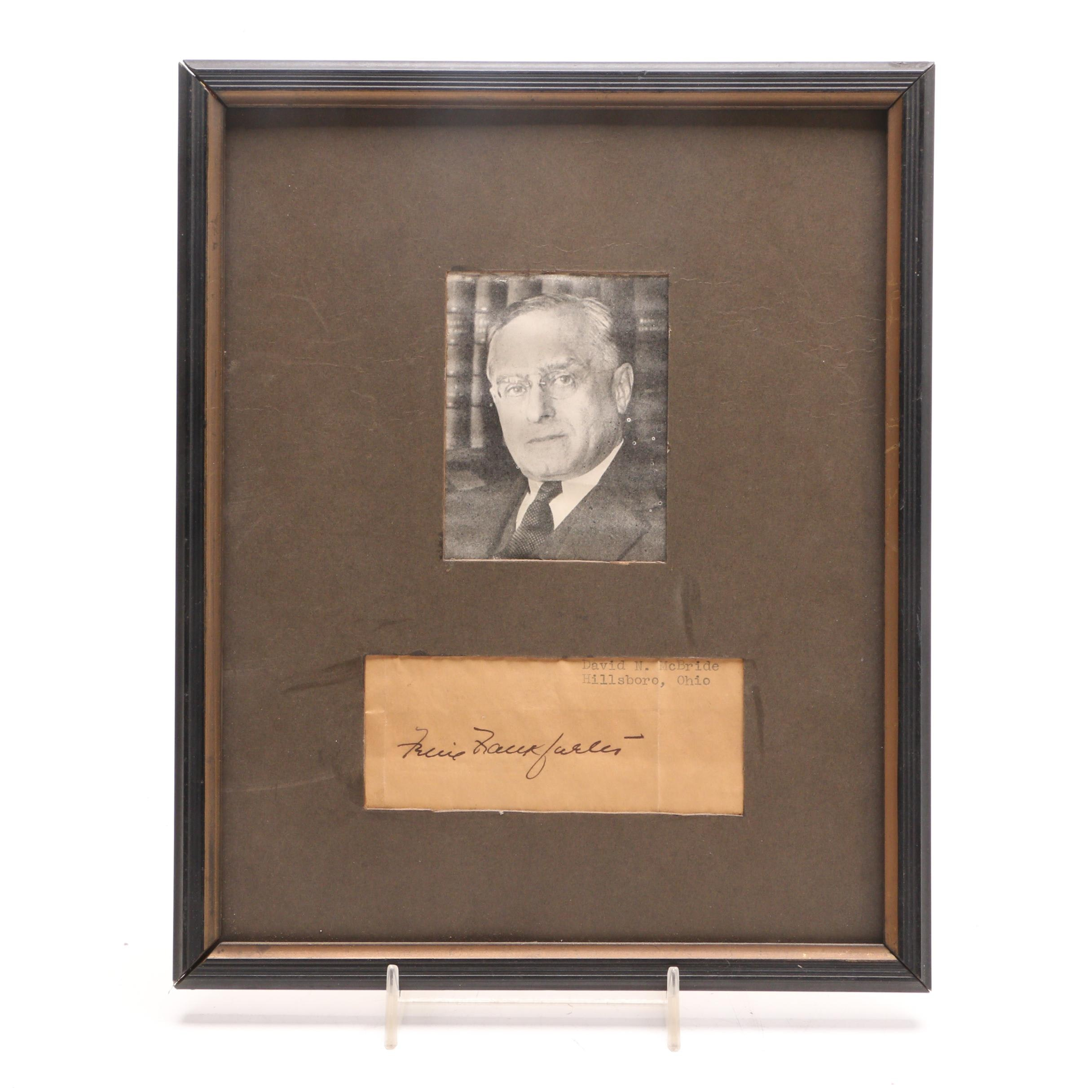 Associate Supreme Court Justice Felix Frankfurter Cut Signature  Visual COA