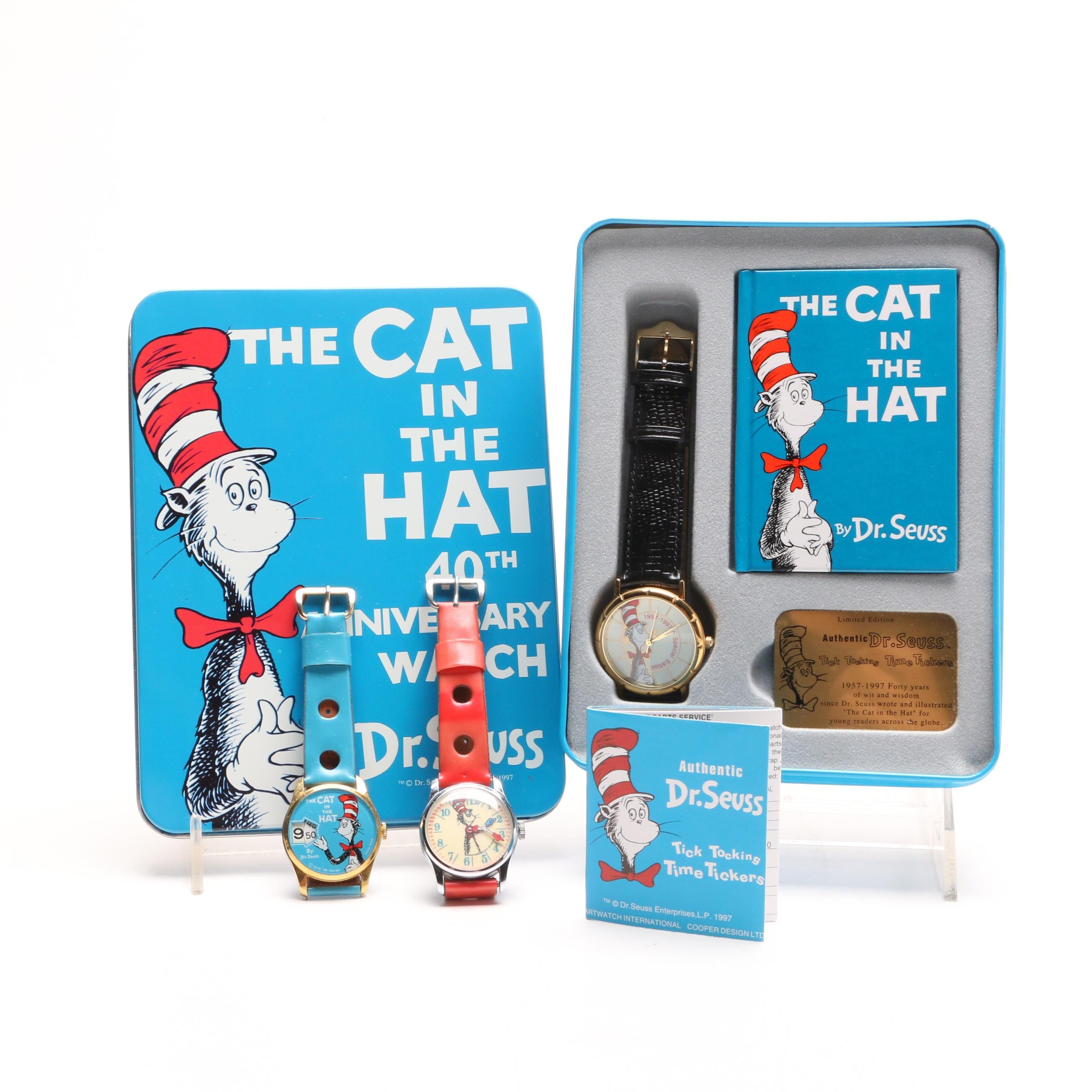 """Cat in the Hat"" Dr. Seuss Themed Wristwatches"