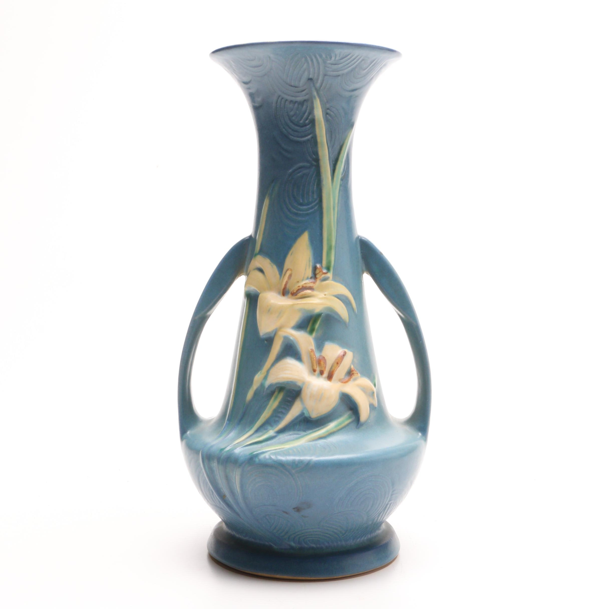 "Roseville ""Water Lily"" Vase"