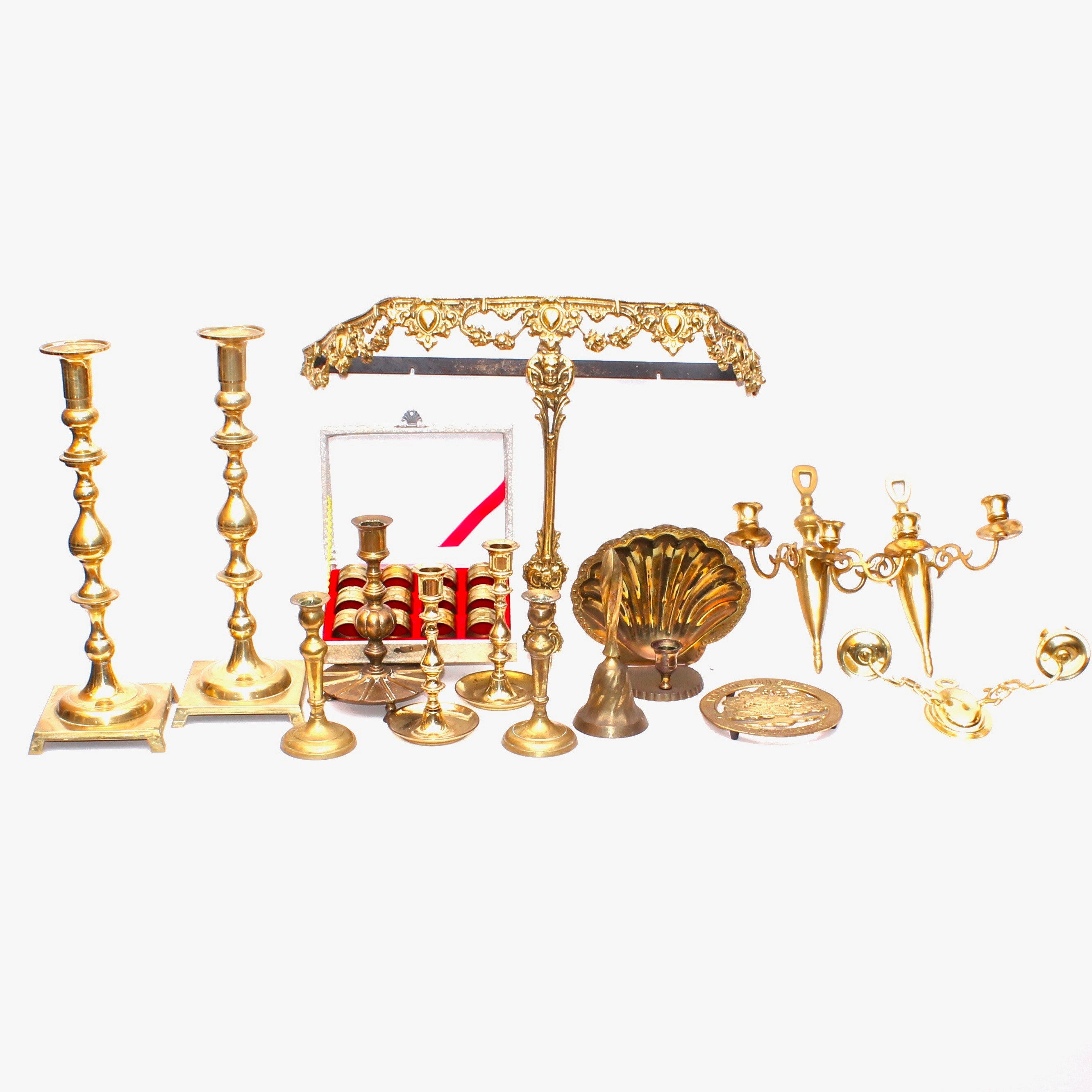 Brass Candle Holders, Candle Sconces, and Decor