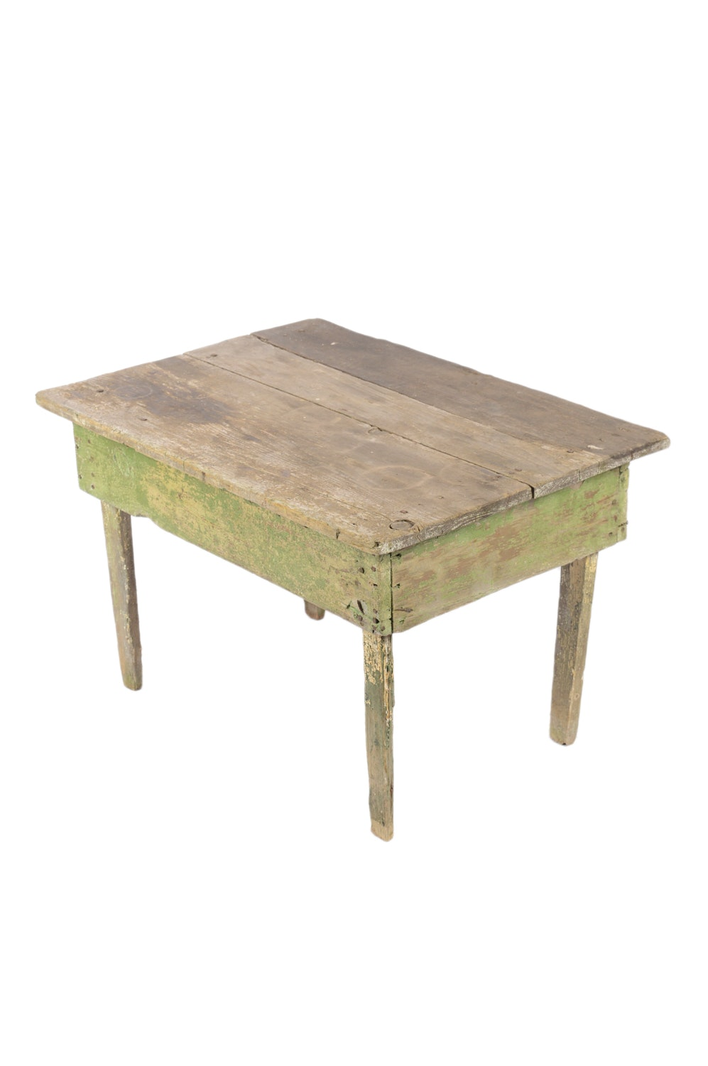 Rustic Painted Wood Side Table, 20th Century