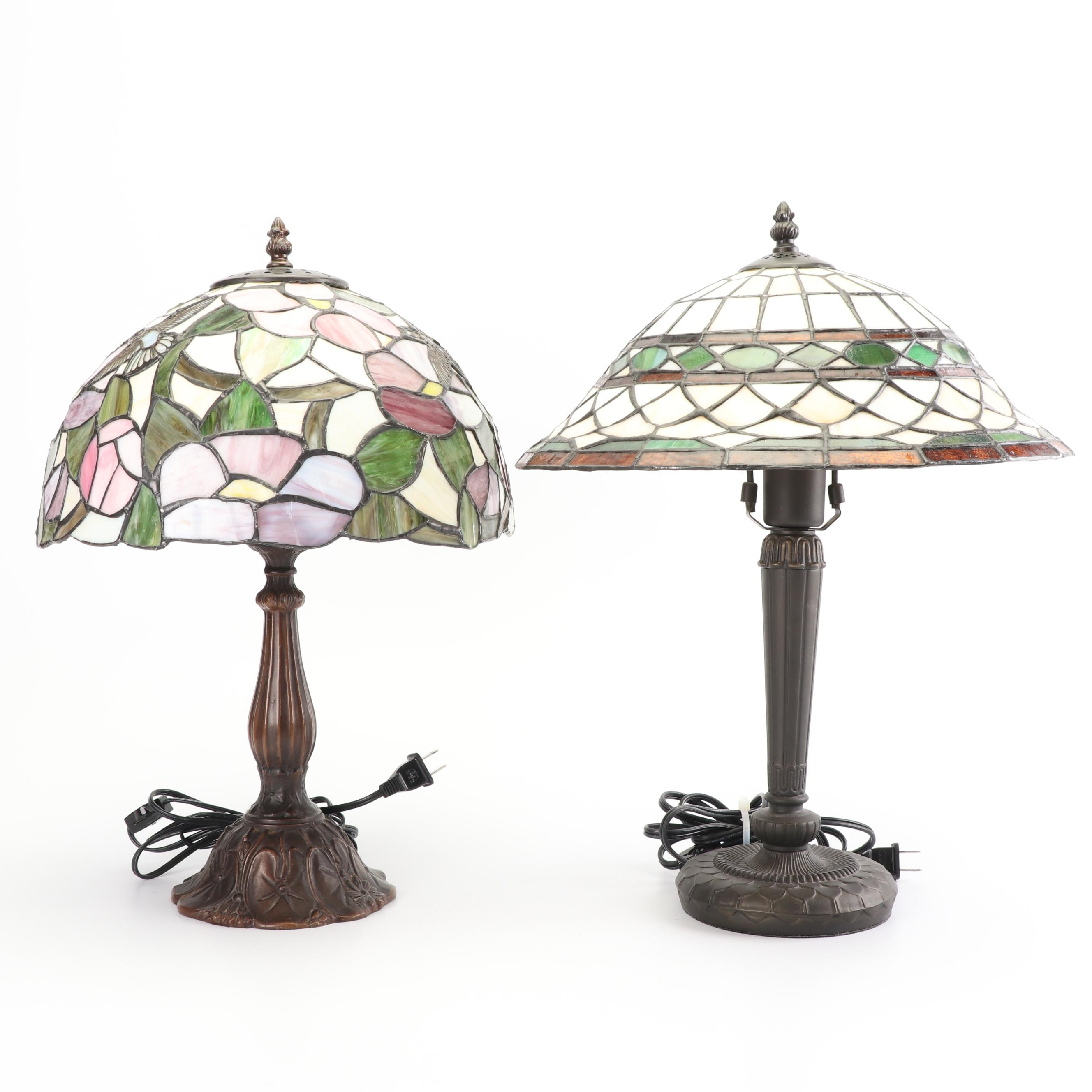 Slag Glass Table Lamps