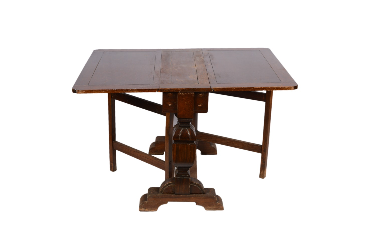 Stained Oak Gate Leg Table, 20th Century