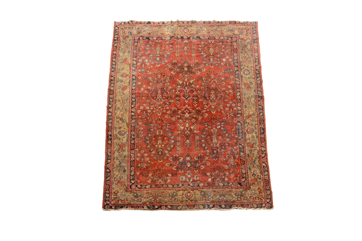 Hand-Knotted Persian Sarouk Wool Rug from Oscar Isberian Rugs