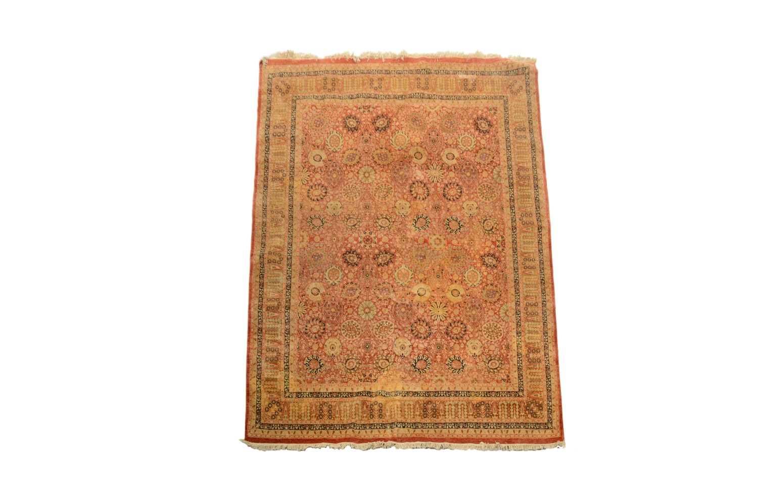 Finely Hand-Knotted Indian Tabriz Wool Rug