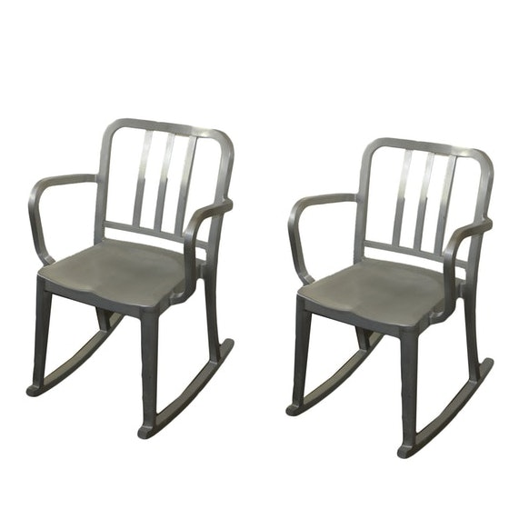 """Heritage"" Aluminum Rocking Chairs by Philippe Starck"