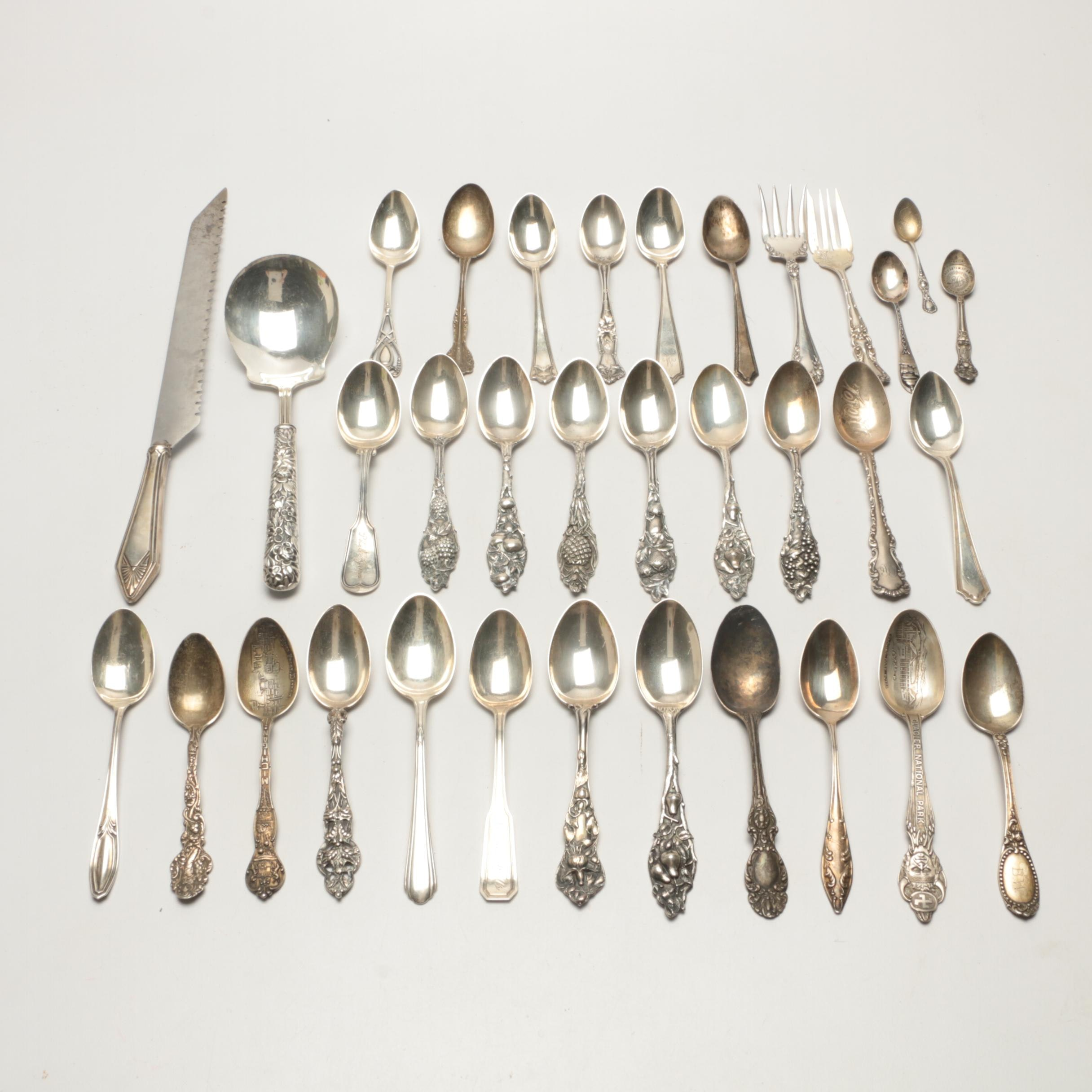 "Vintage Sterling Flatware featuring Watson Co. ""Fruit"" and ""Floral"" Series"