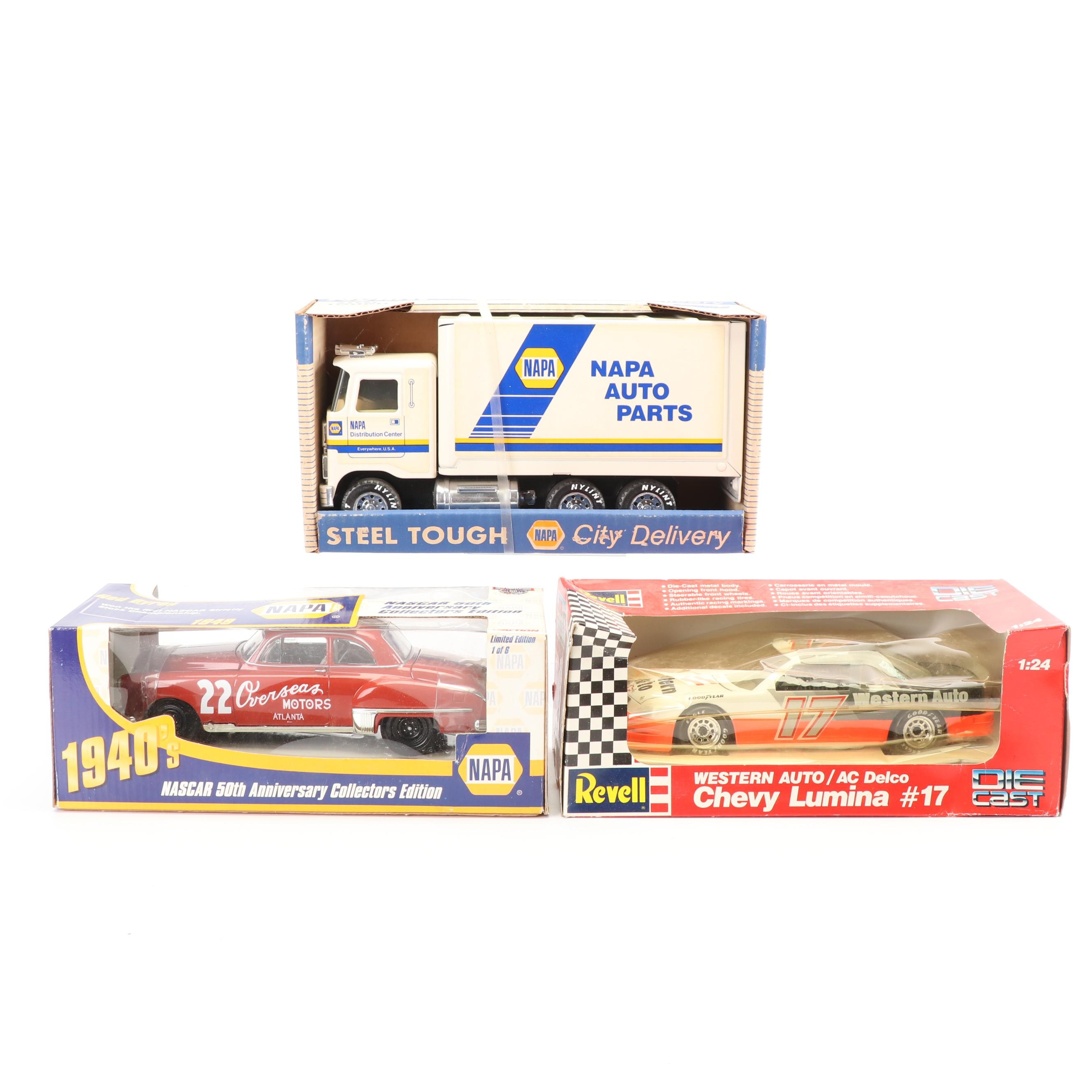 Die-Cast Cars and Truck featuring NAPA Auto Parts