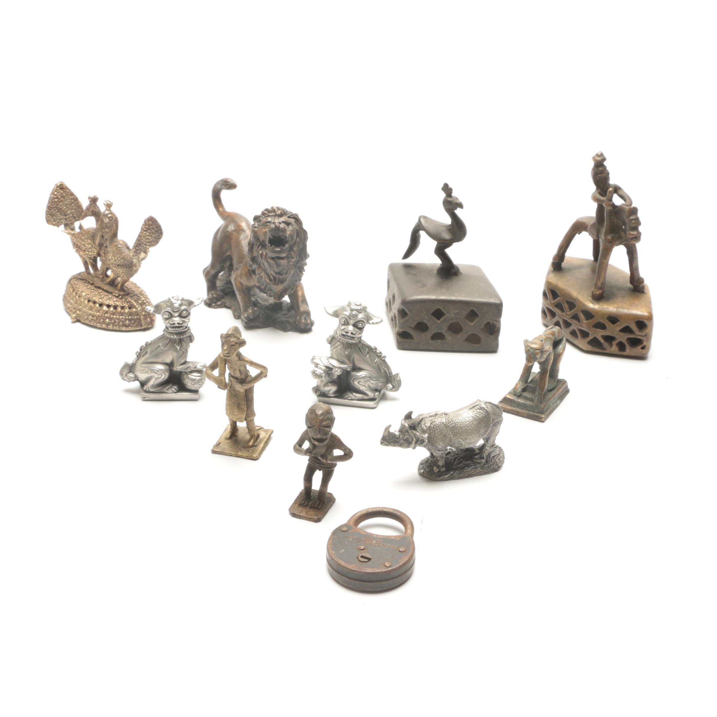 Assortment of Metal Figurines