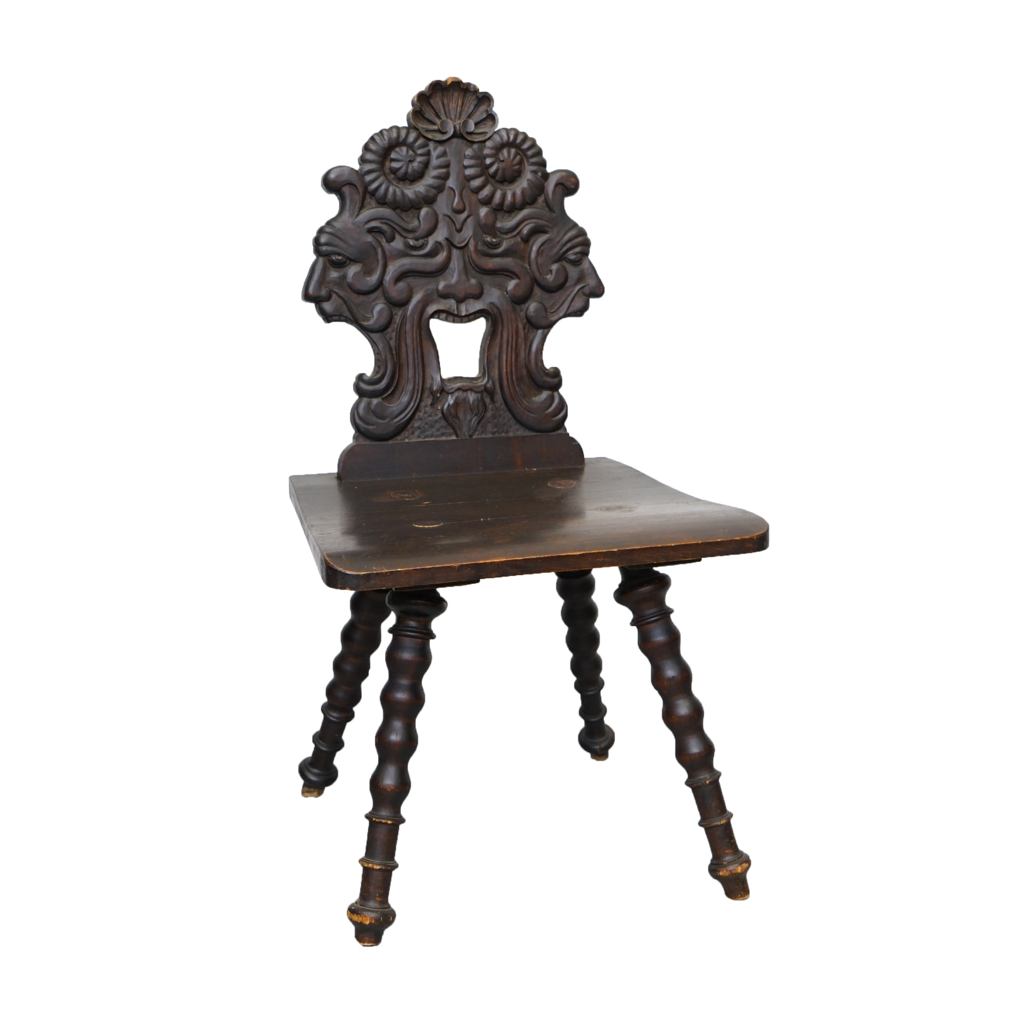 Late 19th Century Carved Green Man Chair