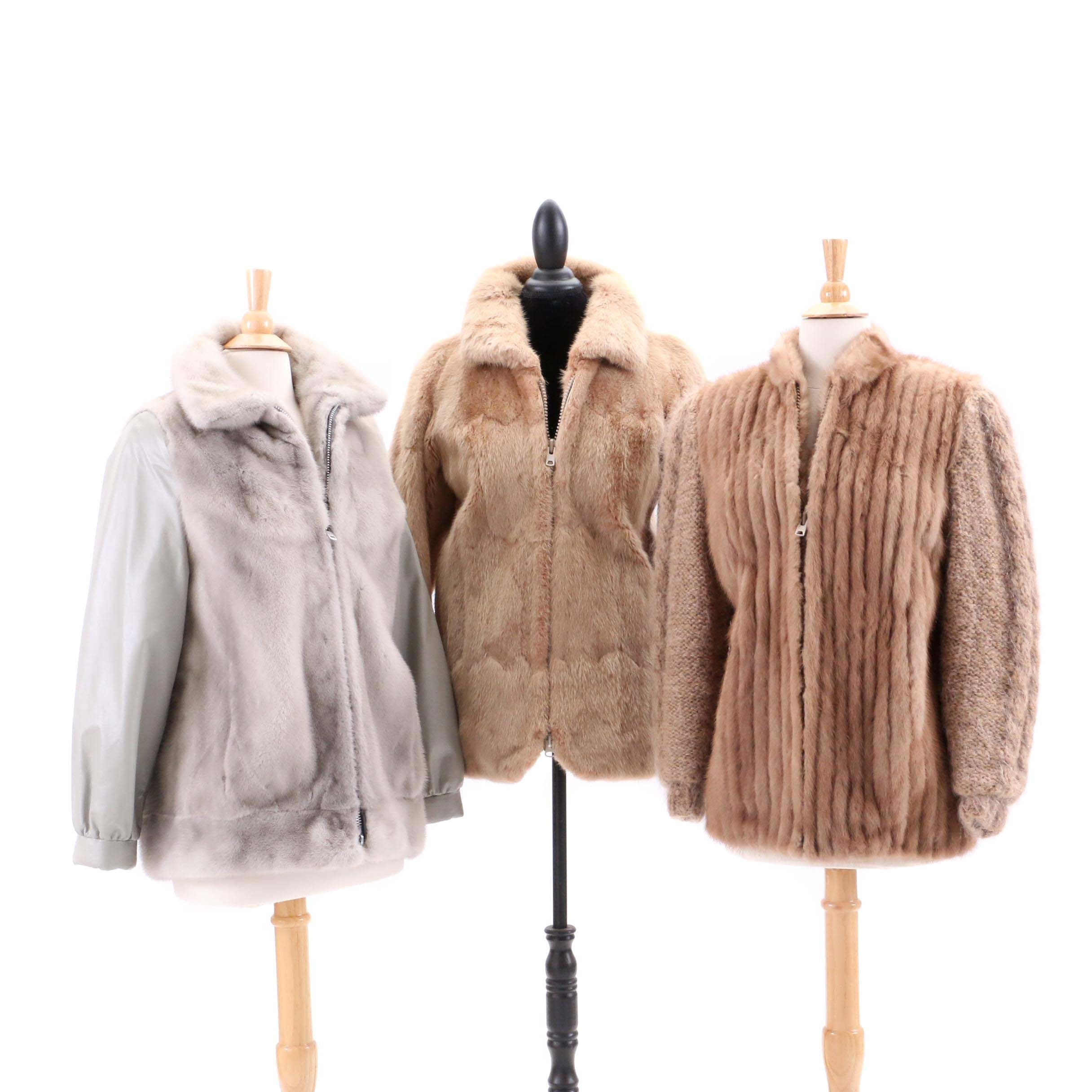 Vintage Mink and Muskrat Fur Coats