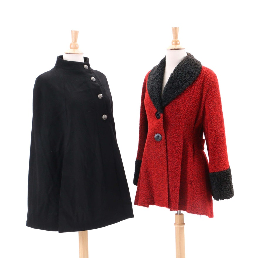 b86b32ac73 Vintage J. Peterman Cape and Bouclé Coat   EBTH