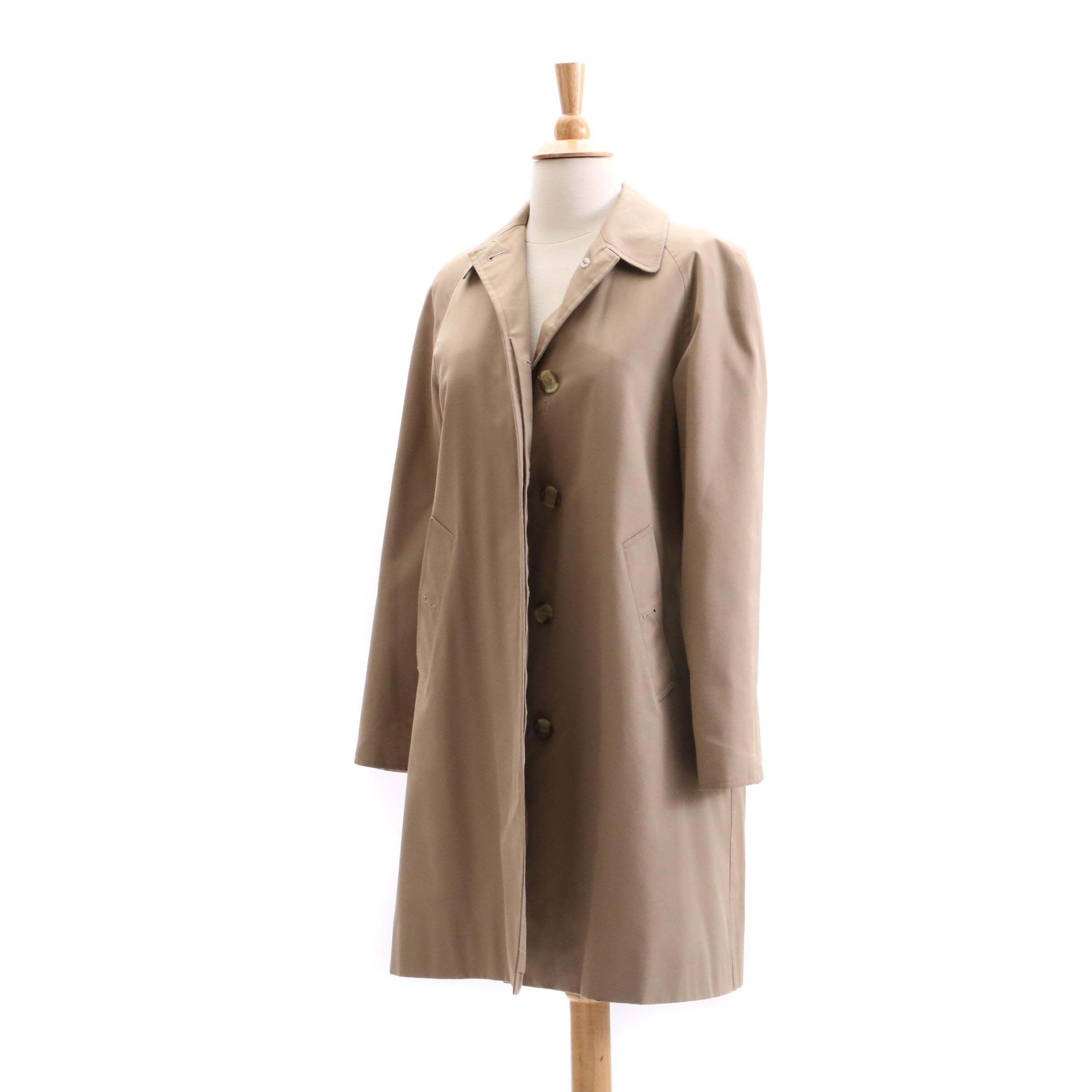 Women's Burberry London Khaki Car Coat